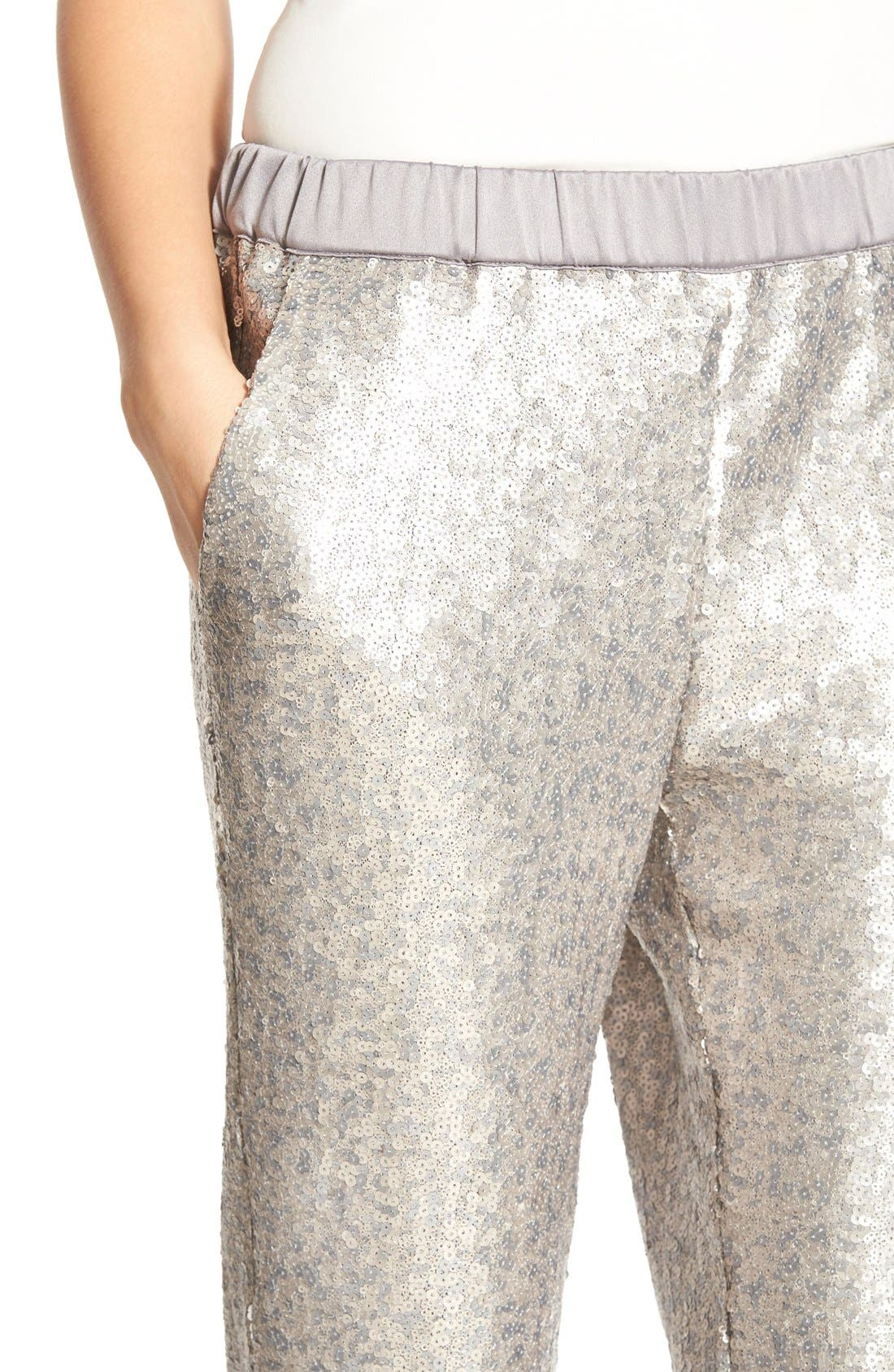 Alternate Image 5  - Chelsea28 Sequin Pants