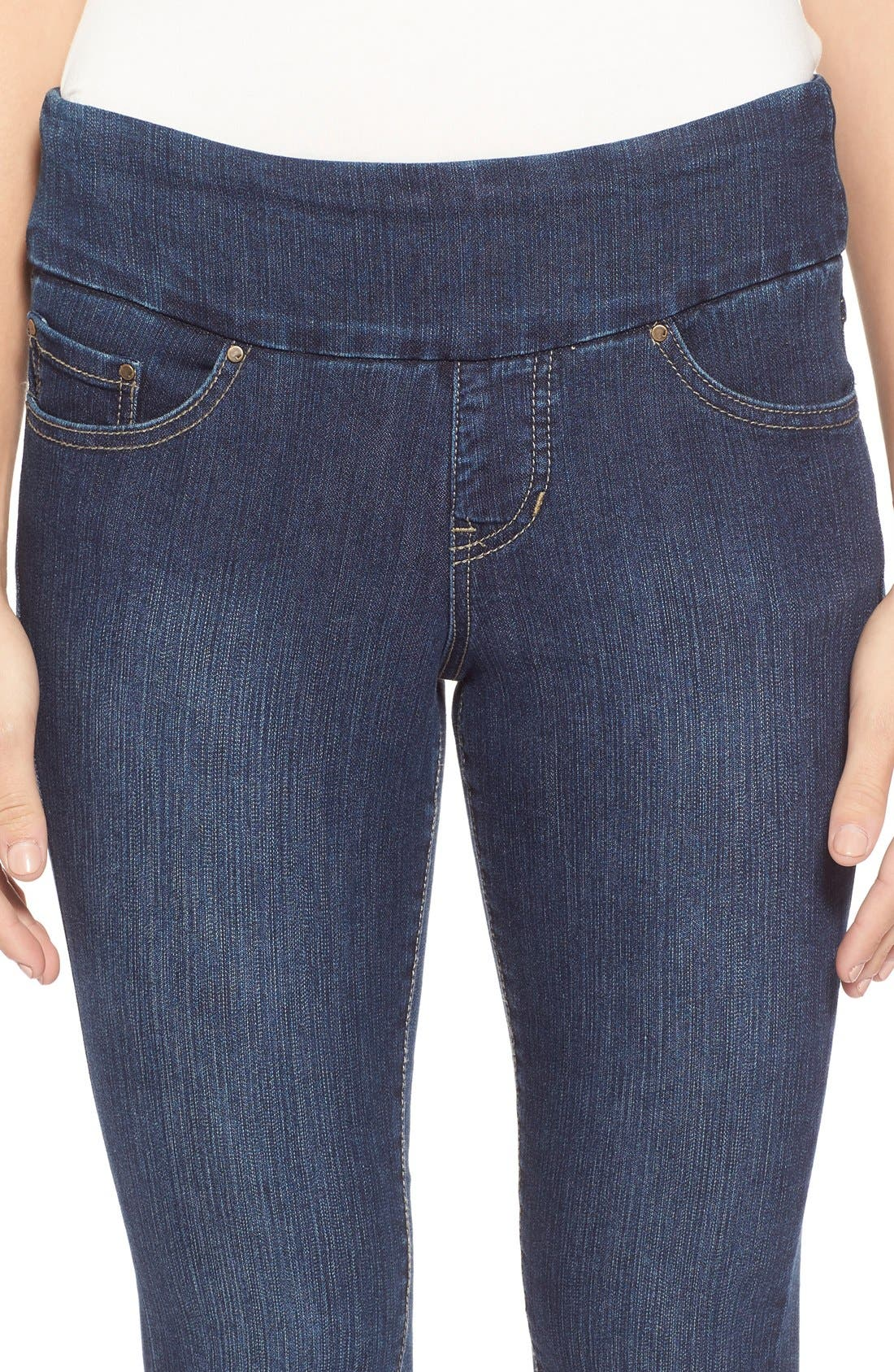 Alternate Image 4  - Jag Jeans 'Nora' Pull-On Stretch Skinny Jeans (Anchor Blue) (Regular & Petite)