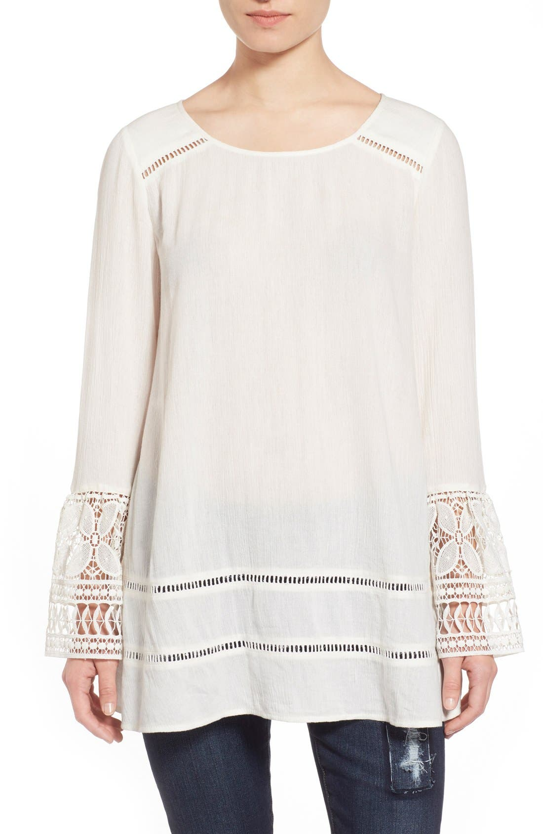 Alternate Image 1 Selected - Sun & Shadow Lace Tunic