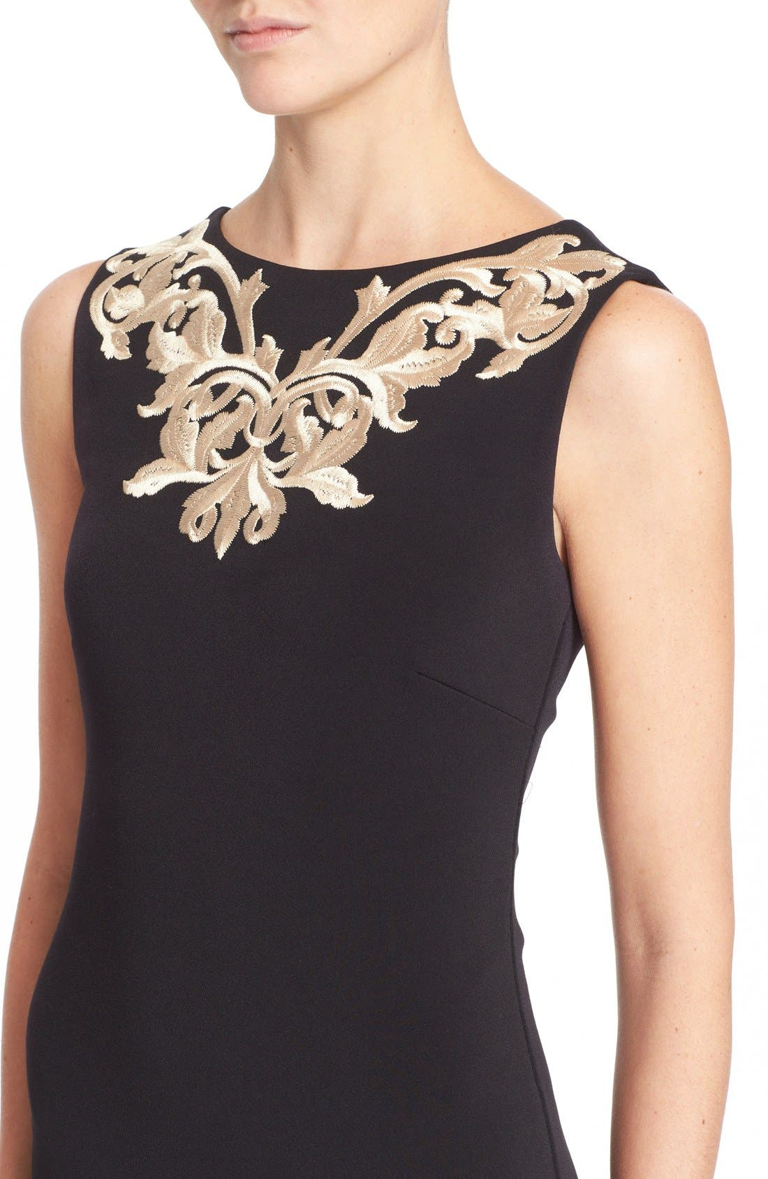 Alternate Image 4  - Ted Baker London 'Tammara' Embroidered Midi Sheath Dress