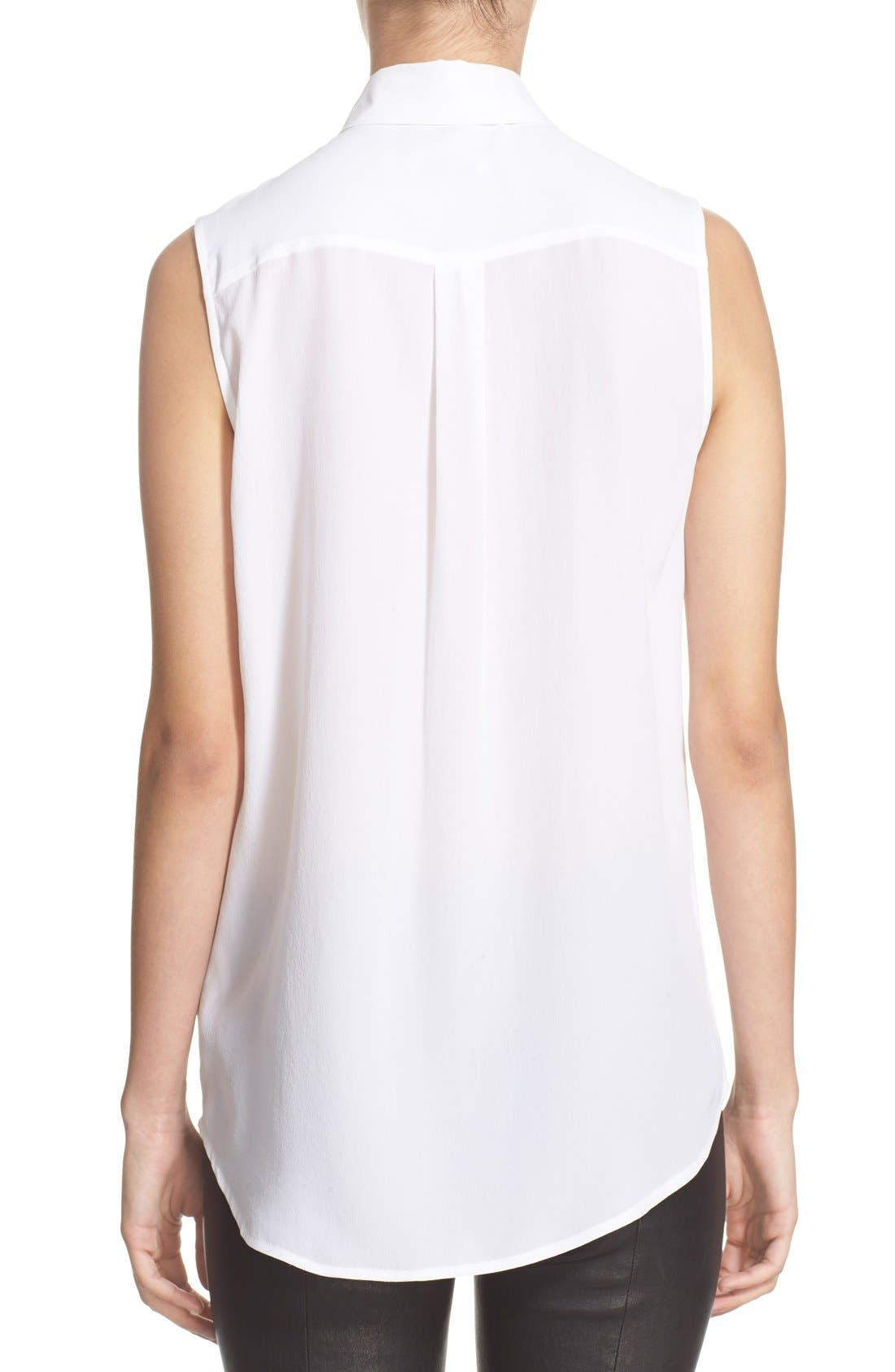Alternate Image 4  - Equipment 'Slim Signature' Sleeveless Silk Shirt