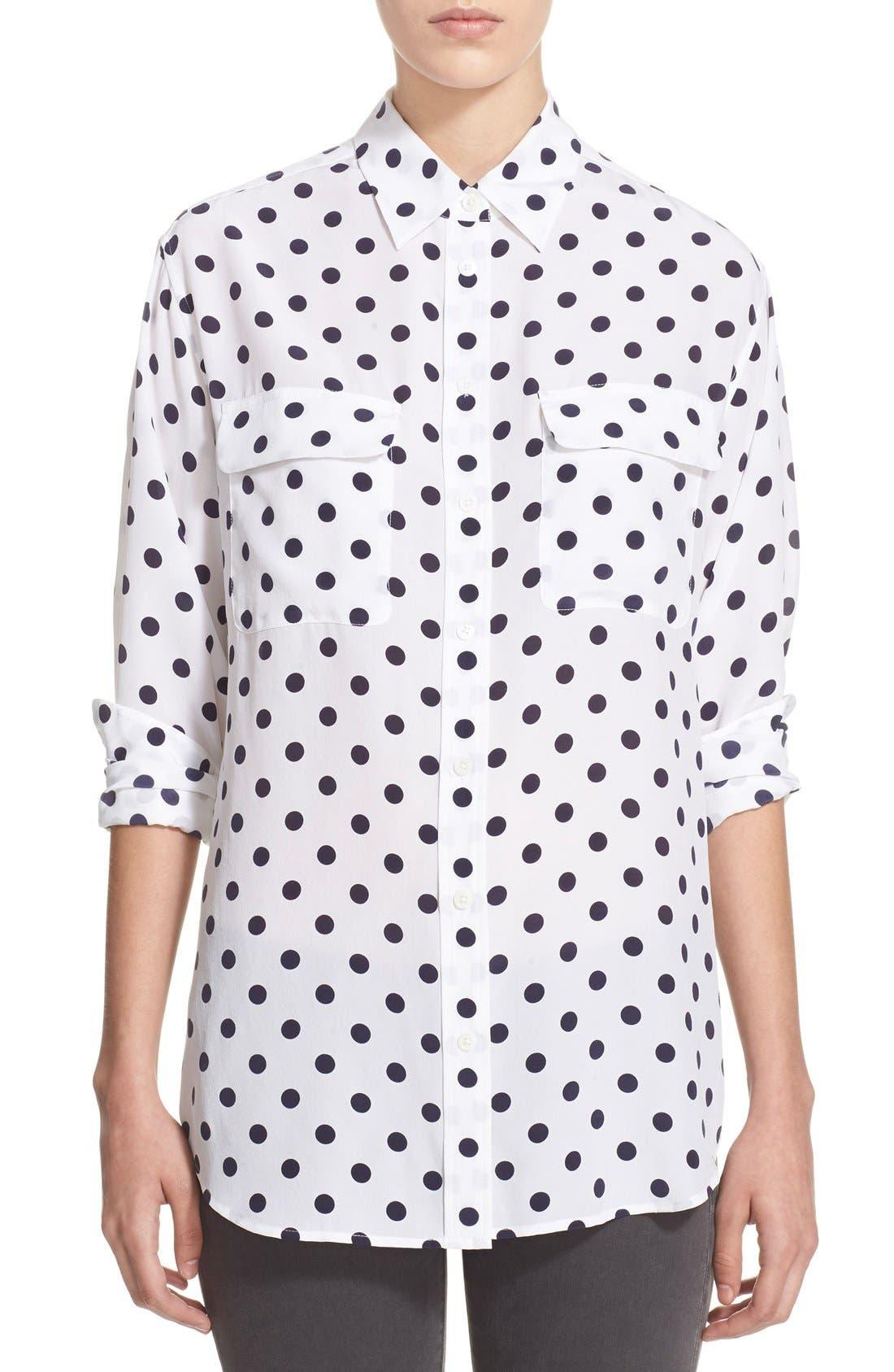 Alternate Image 1 Selected - Equipment 'Signature' Polka Dot Silk Shirt