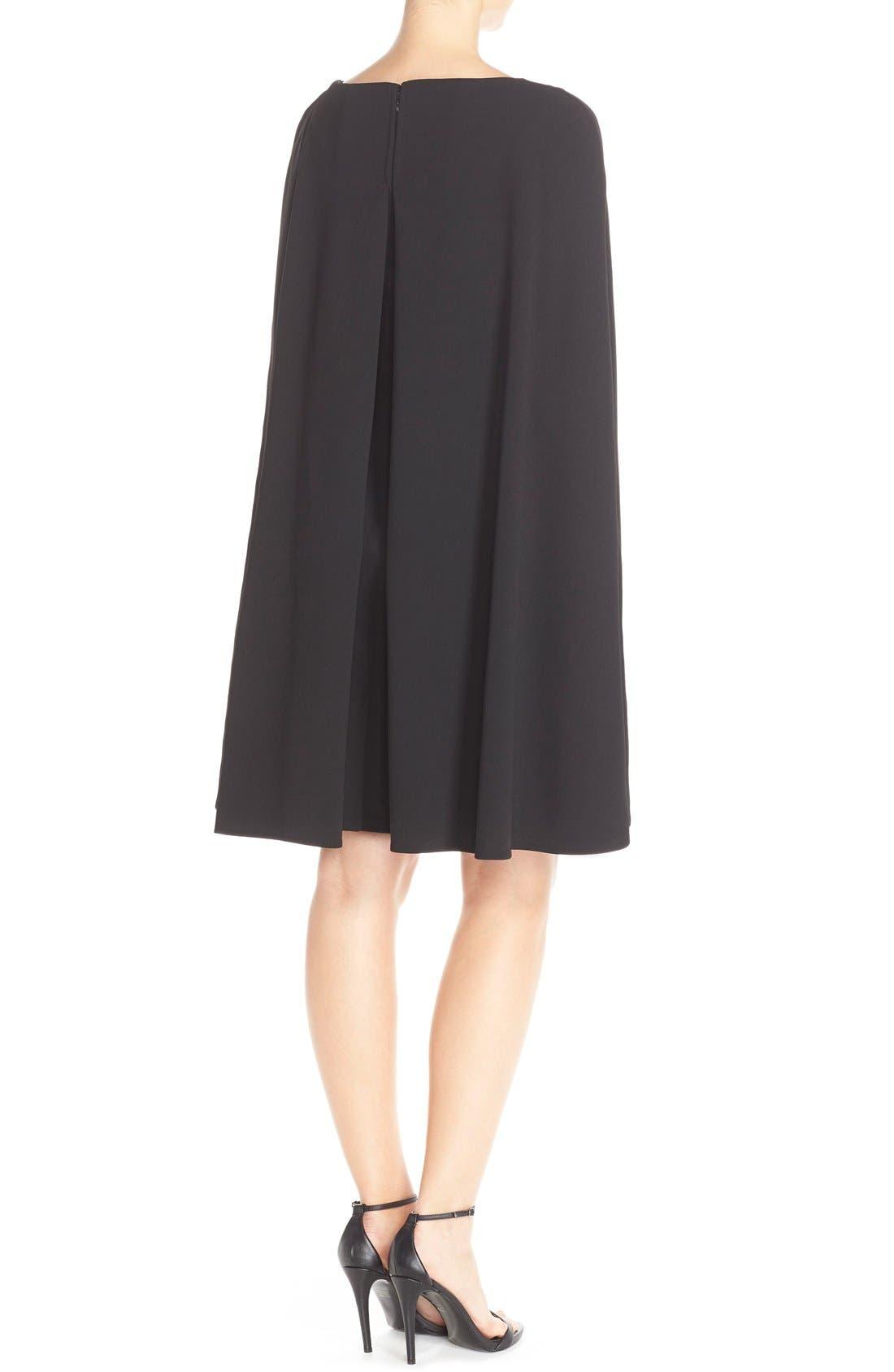 Alternate Image 2  - Adrianna Papell Cape Sheath Crepe Dress