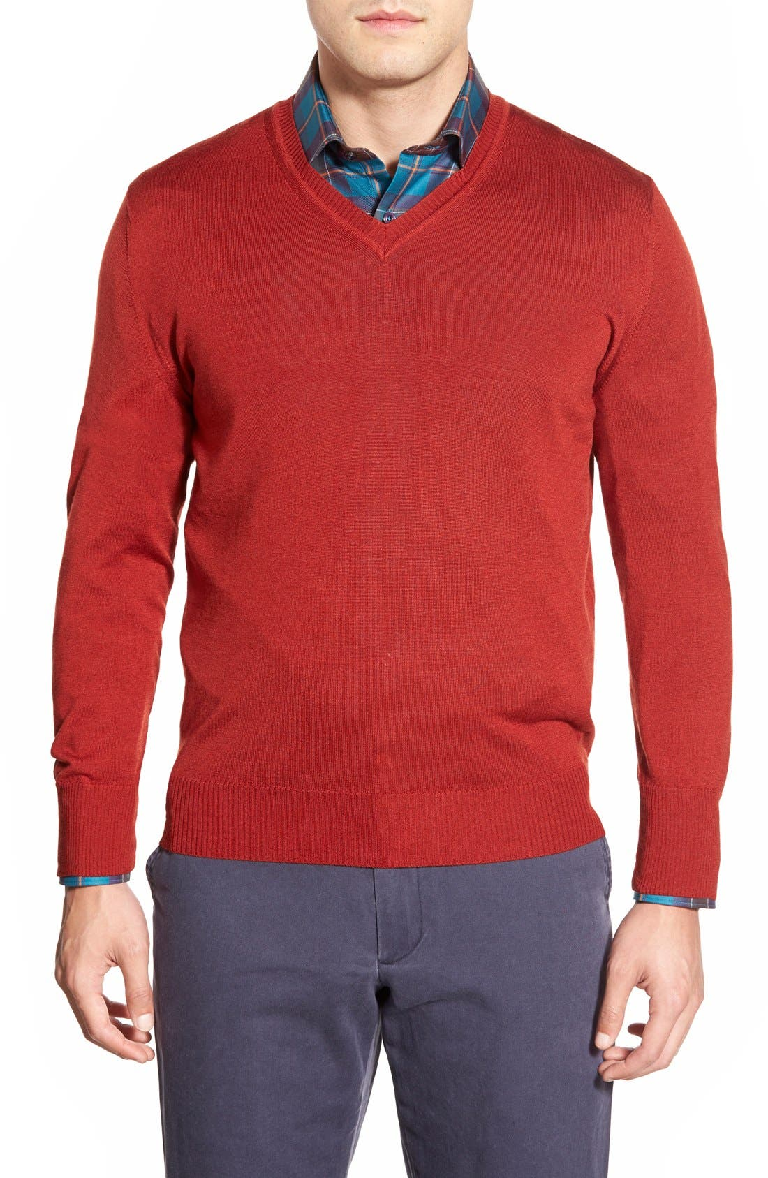 Robert Talbott 'Pasadera' Wool & Silk Blend V-Neck Sweater