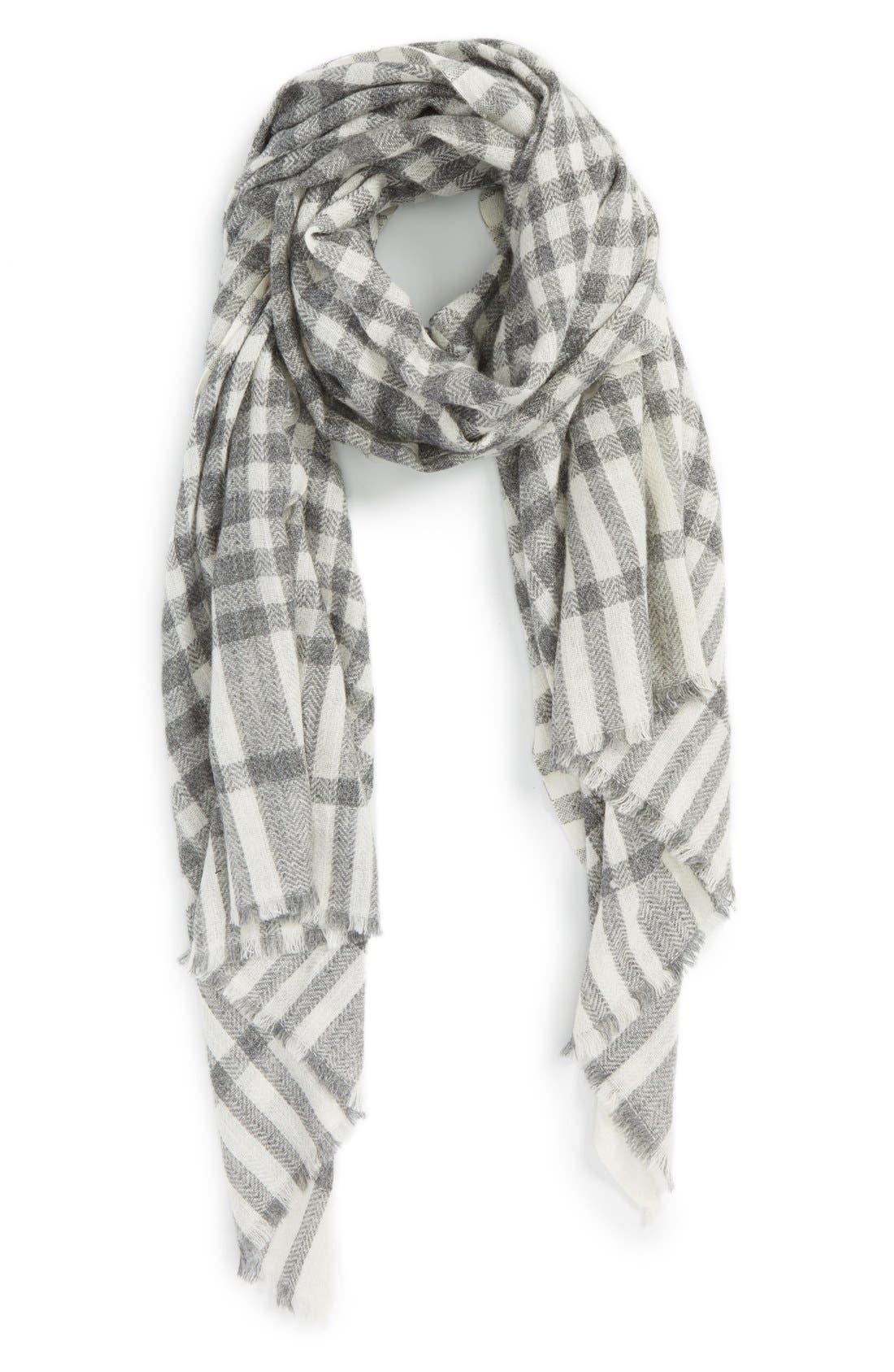 Main Image - Sole Society Plaid Wool Scarf
