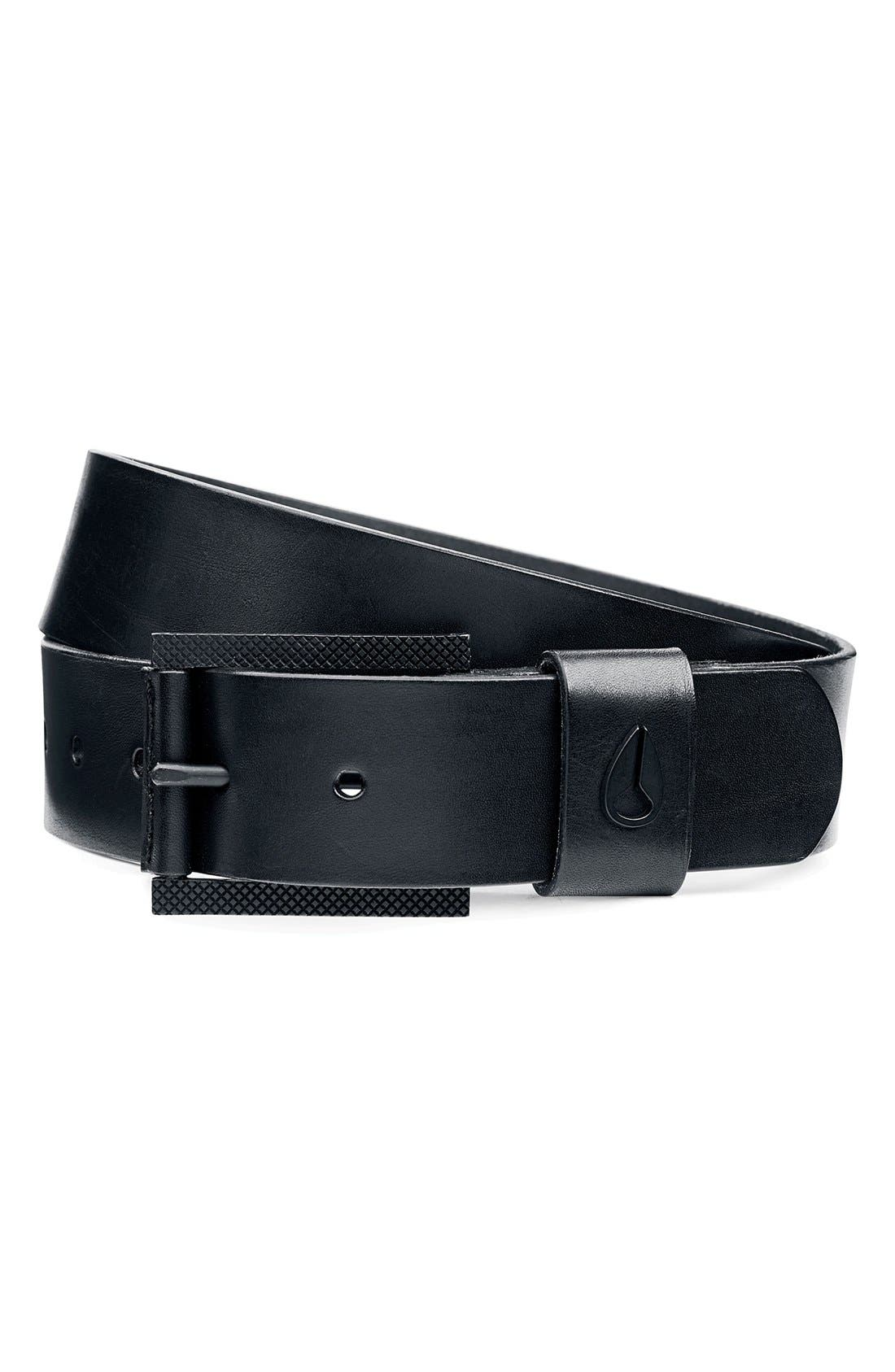 Alternate Image 1 Selected - Nixon 'Americana' Leather Belt
