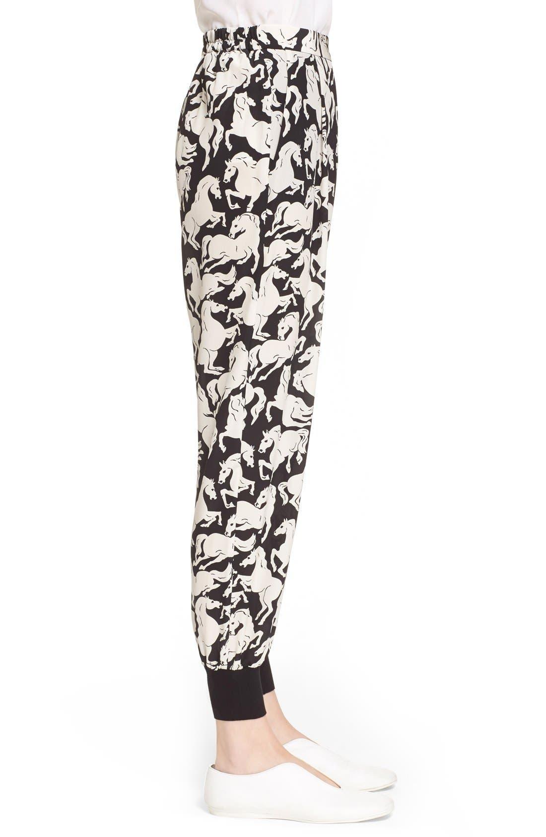 Alternate Image 5  - Stella McCartney 'Joey' Horse Print Silk Pants