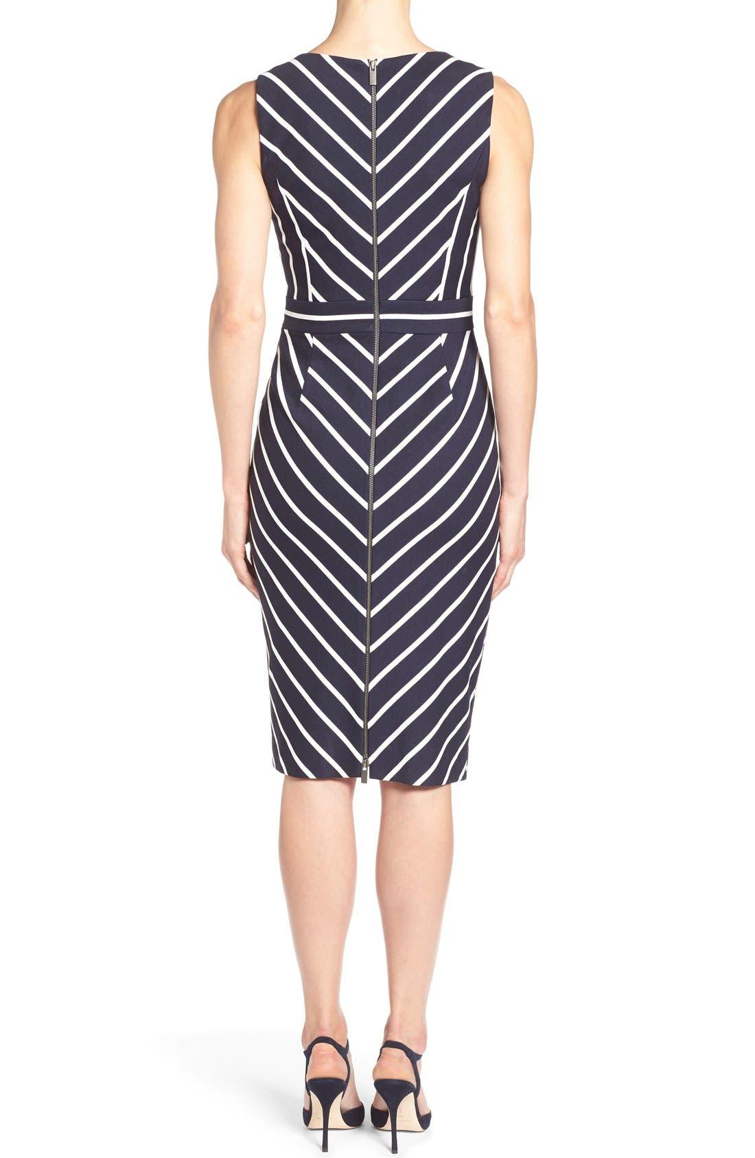 Alternate Image 2  - Classiques Entier® 'Orizzonte' Ponte Knit Faux Wrap Dress