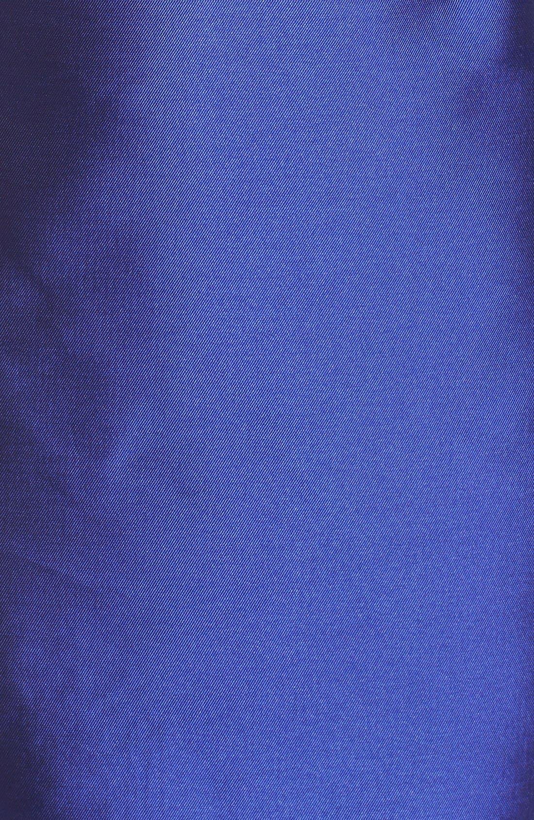 Alternate Image 5  - Adelyn Rae Ruffled Satin Sheath Dress