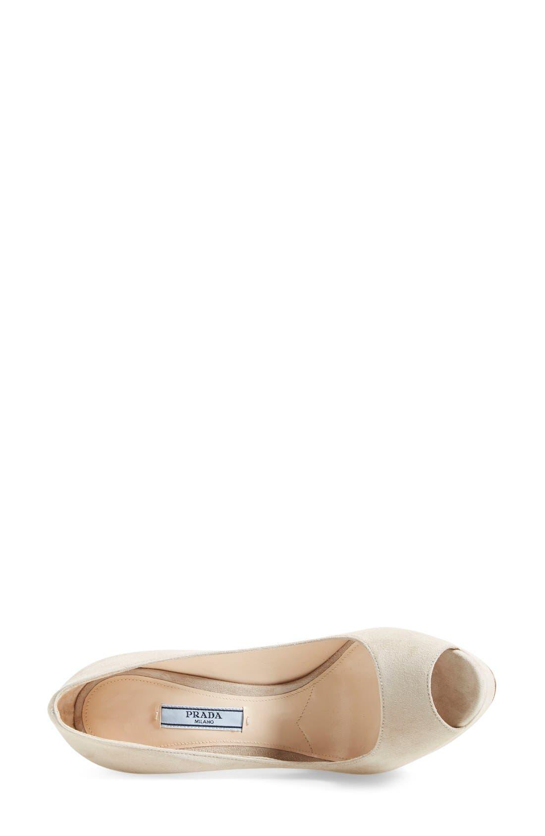 Alternate Image 3  - Prada Platform Peep Toe Pump (Women)