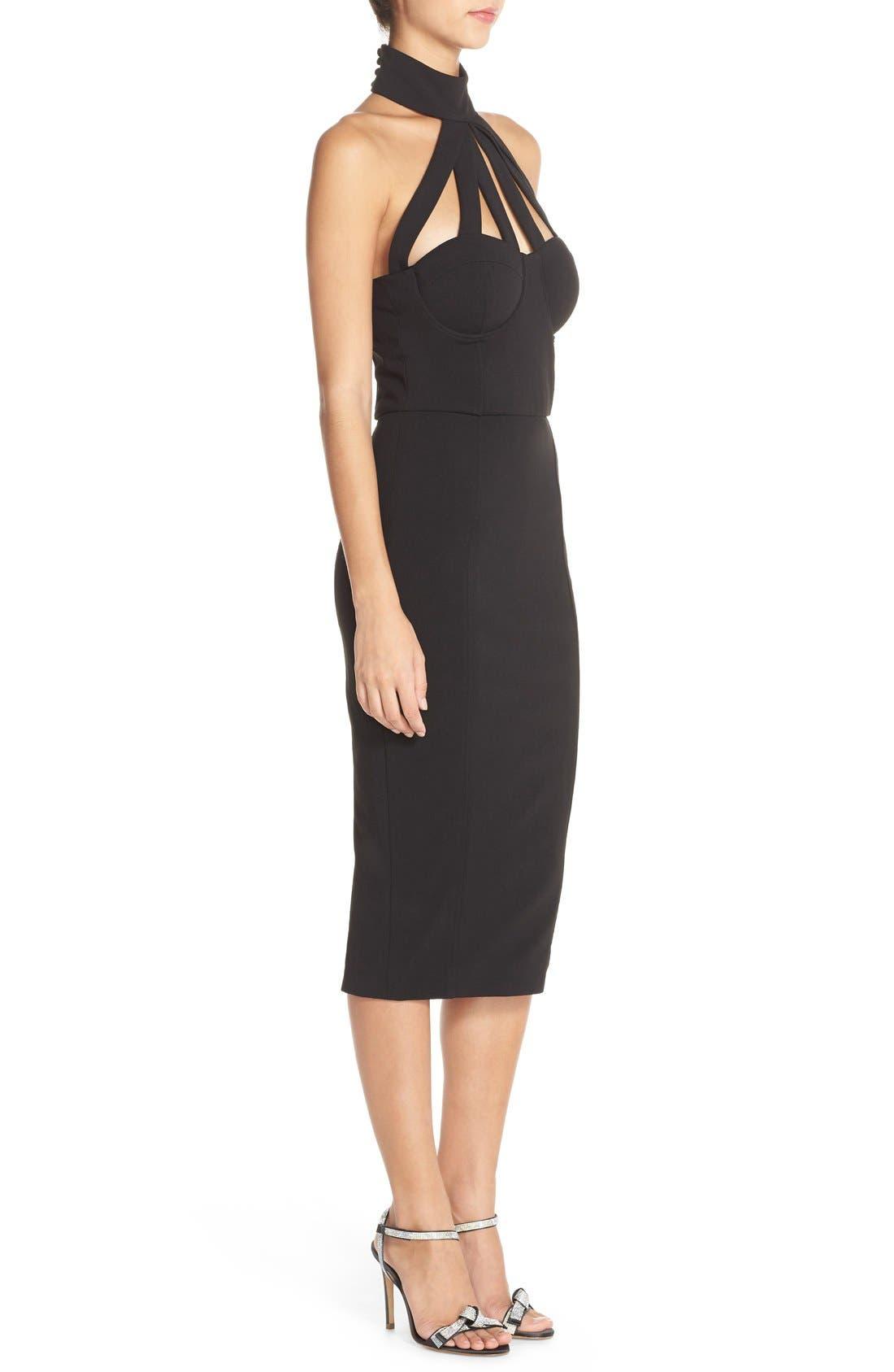 Alternate Image 3  - Misha Collection 'Aliza' Halter Jersey Sheath Dress
