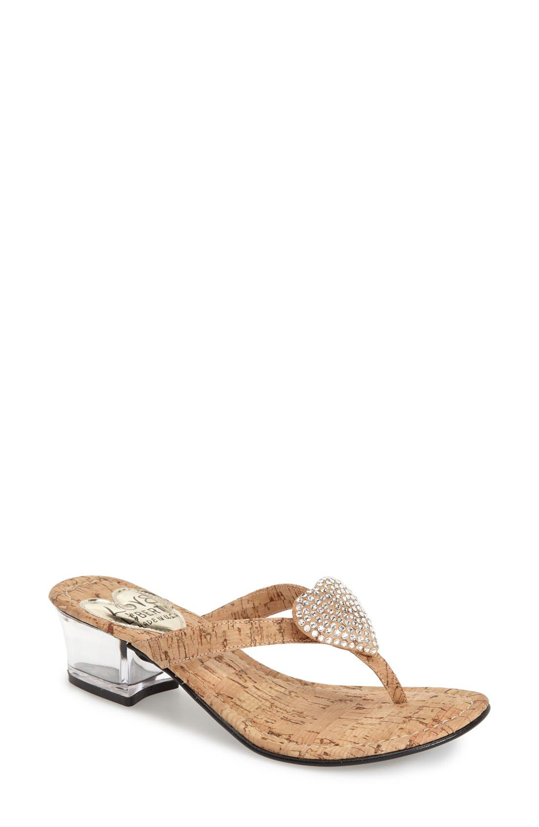 LOVE AND LIBERTY 'Love' Jeweled Flip Flop Sandal