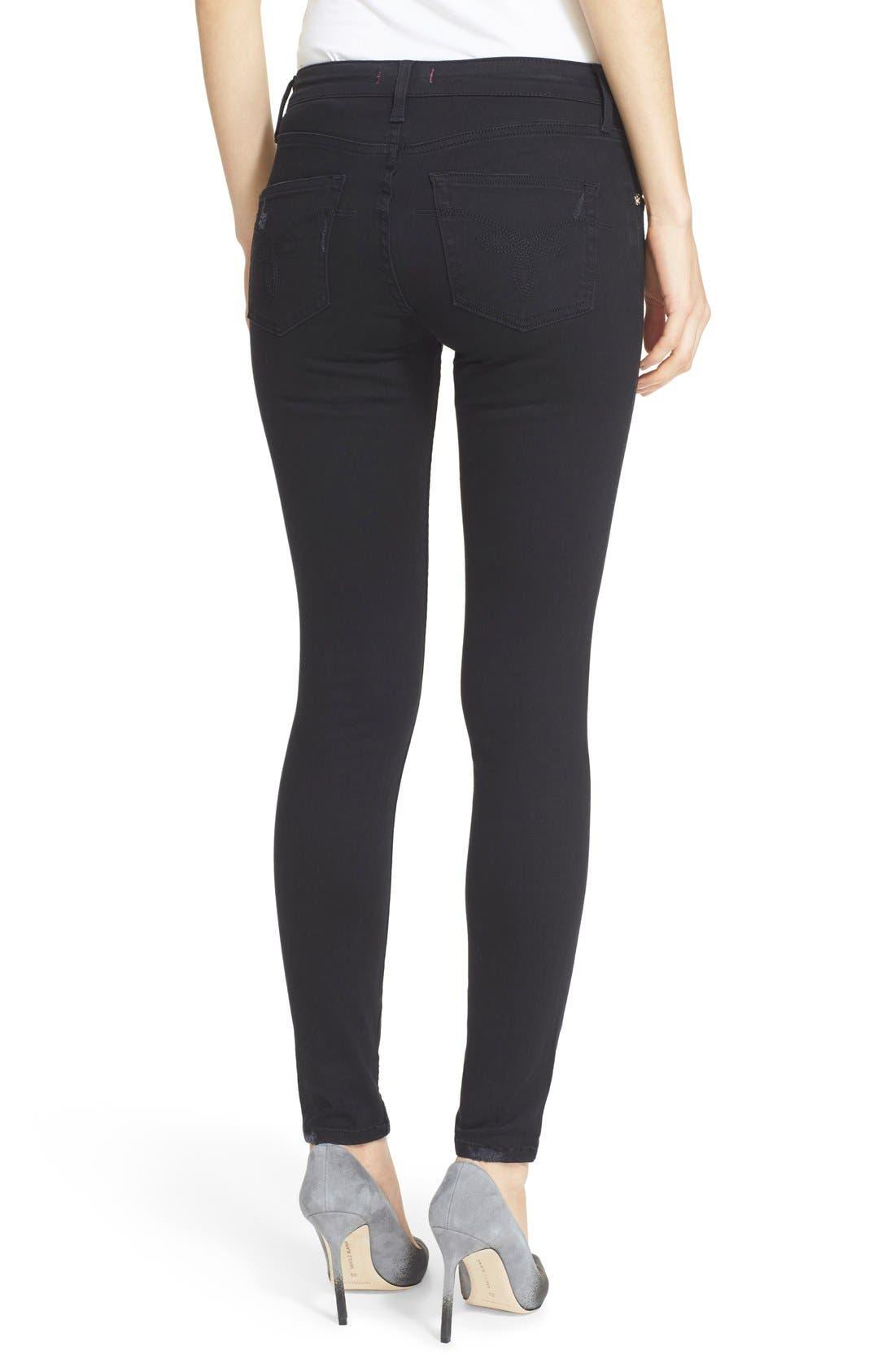 Alternate Image 2  - Ted Baker London 'Platt' Abrasion Skinny Jeans (Black)