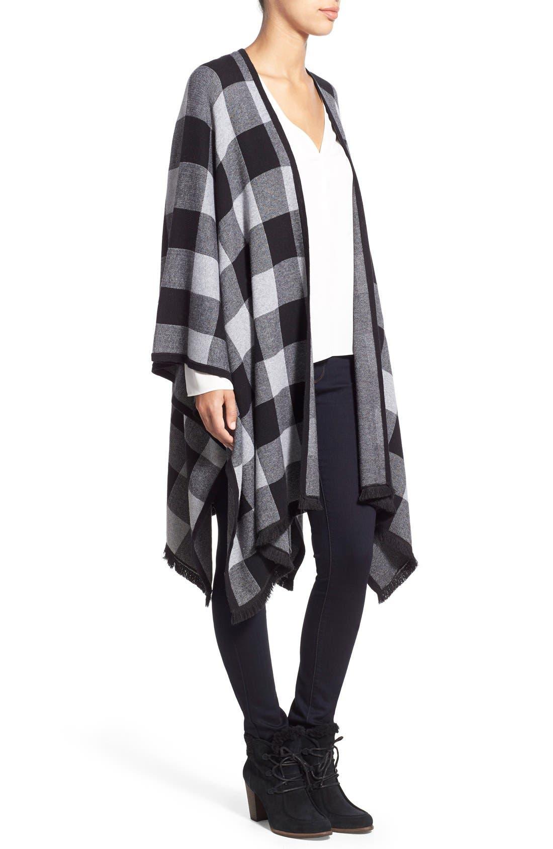Alternate Image 3  - kensie Check Plaid Blanket Cardigan