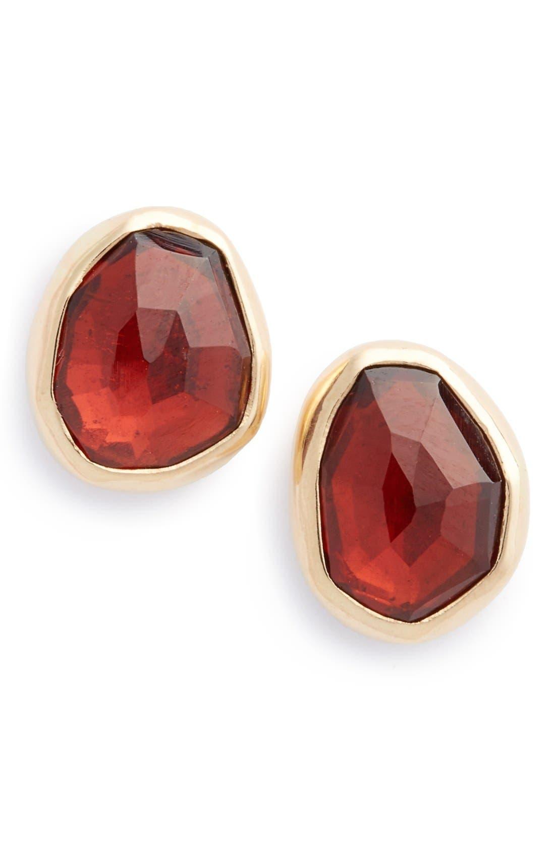 MELISSA JOY MANNING Garnet Stud Earrings