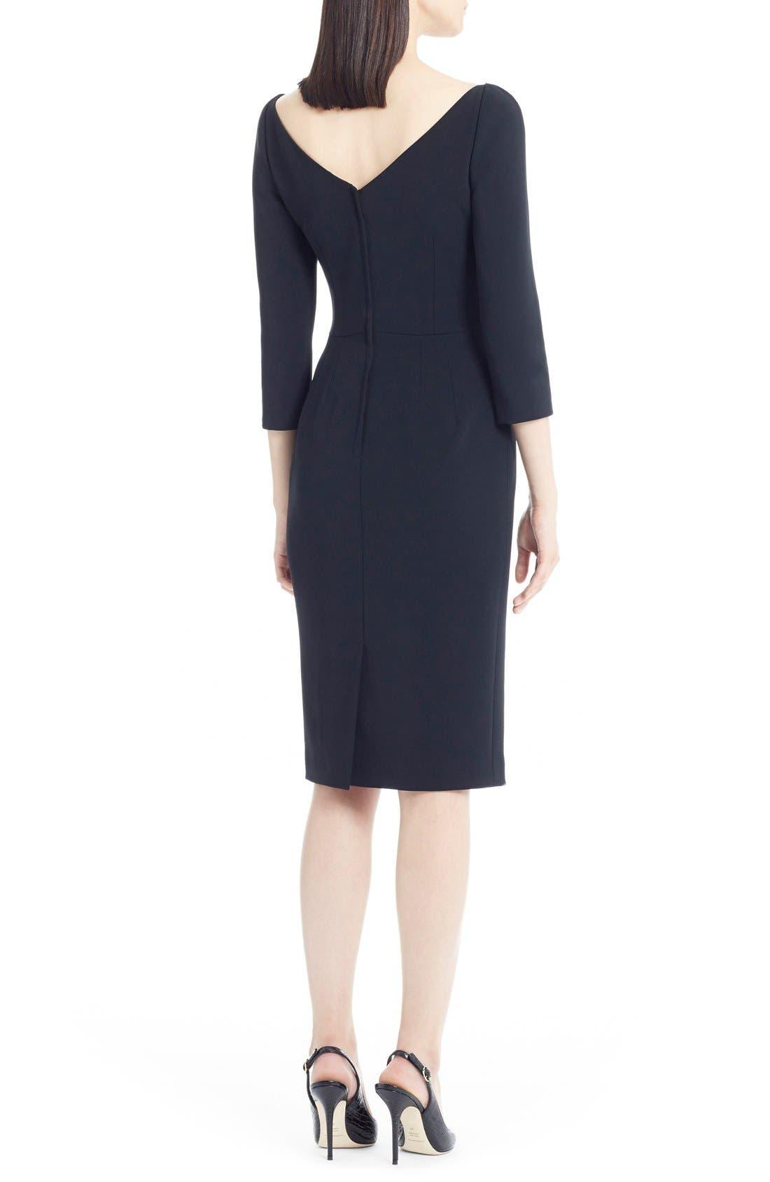 Alternate Image 2  - Dolce&Gabbana V-Neck Cady Sheath Dress