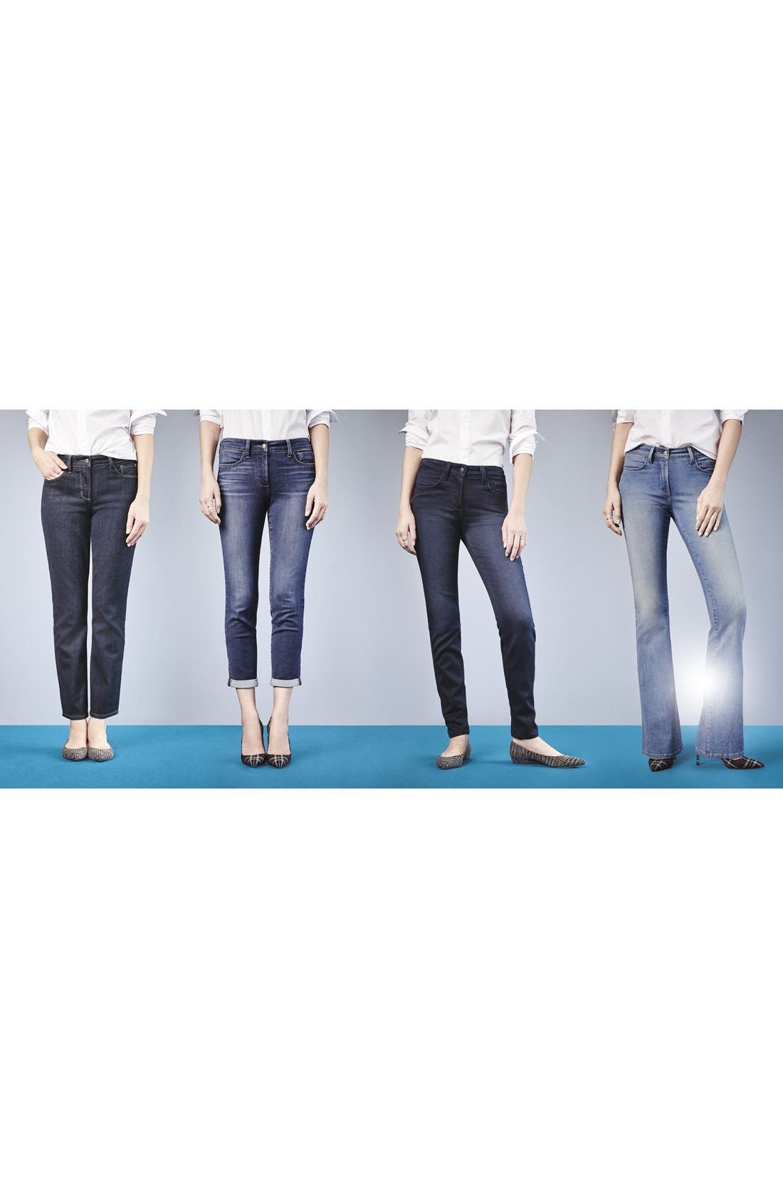 Alternate Image 6  - NYDJ 'Farrah' Stretch Flare Leg Jeans (Upper Falls)