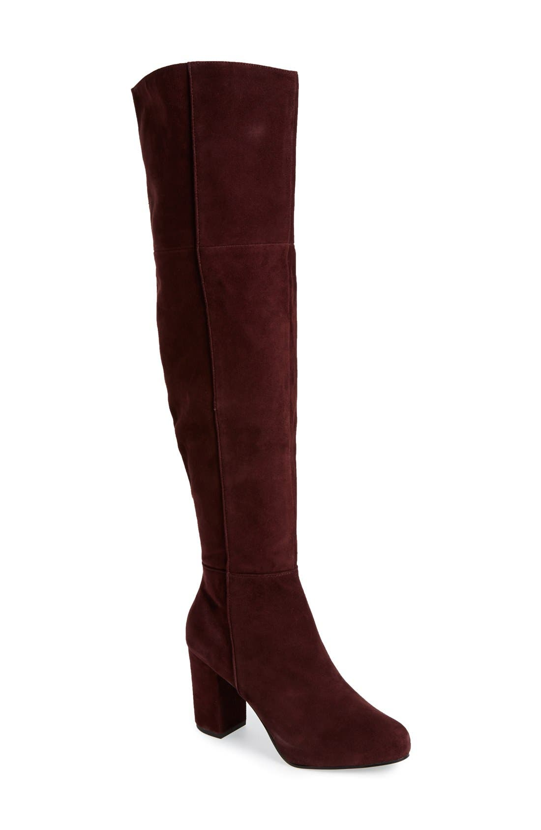 Main Image - Topshop 'Count' Over the Knee Boot (Women)