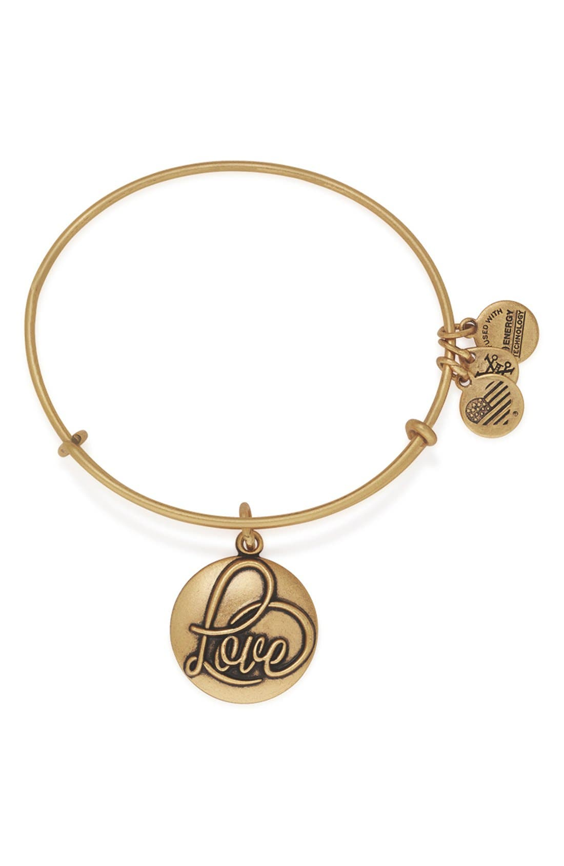 Alternate Image 1 Selected - Alex and Ani 'Love' Expandable Wire Bangle
