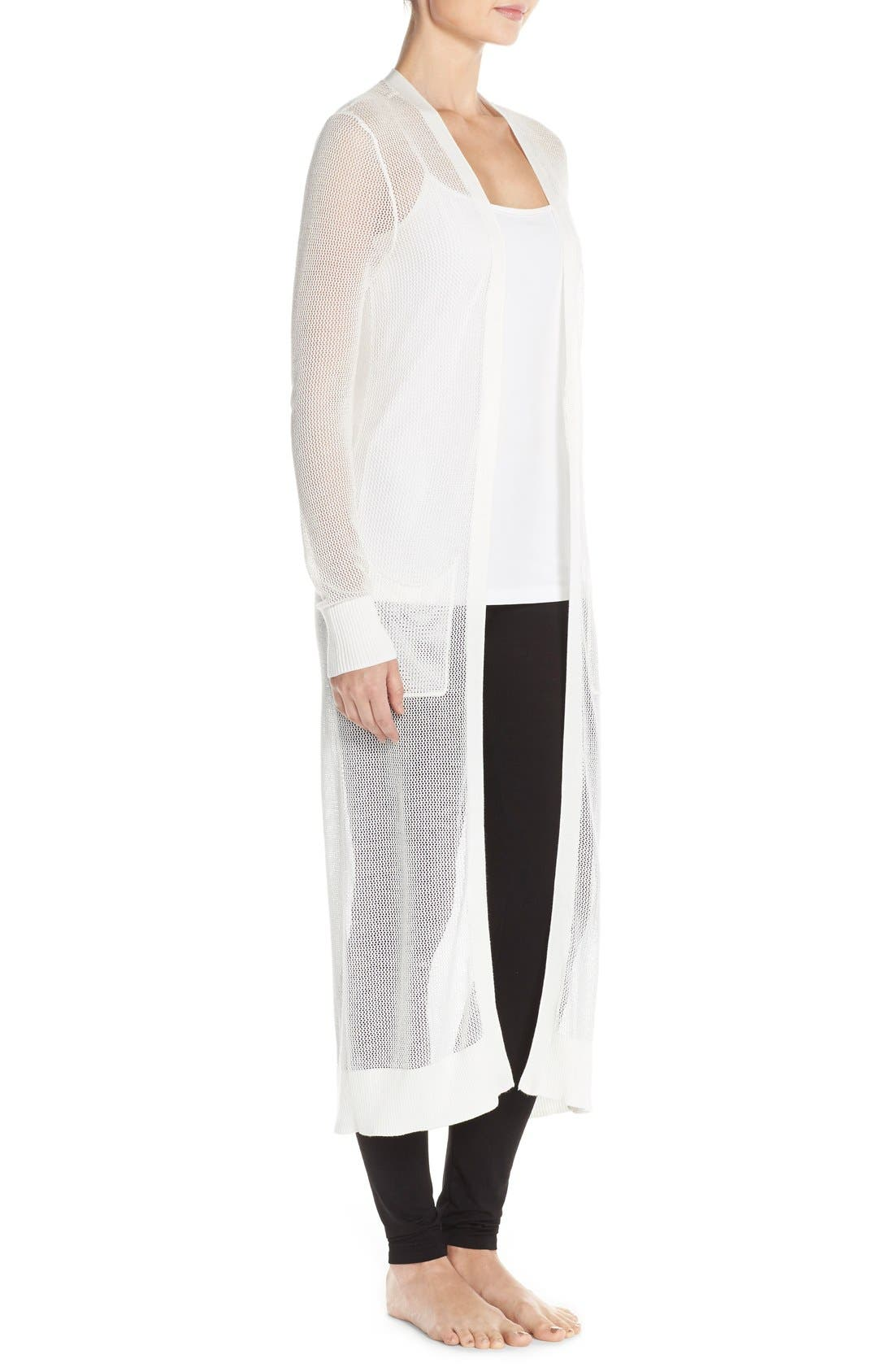 Alternate Image 3  - Nordstrom Lingerie Sheer Long Cardigan
