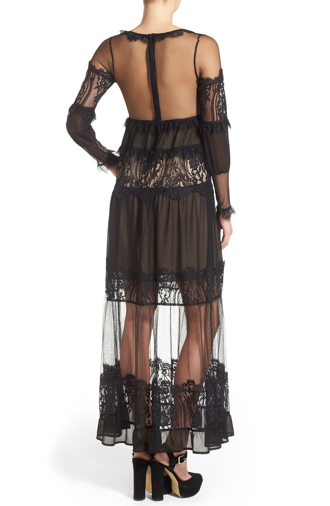 Alternate Image 2  - For Love & Lemons 'Alexa' Maxi Dress