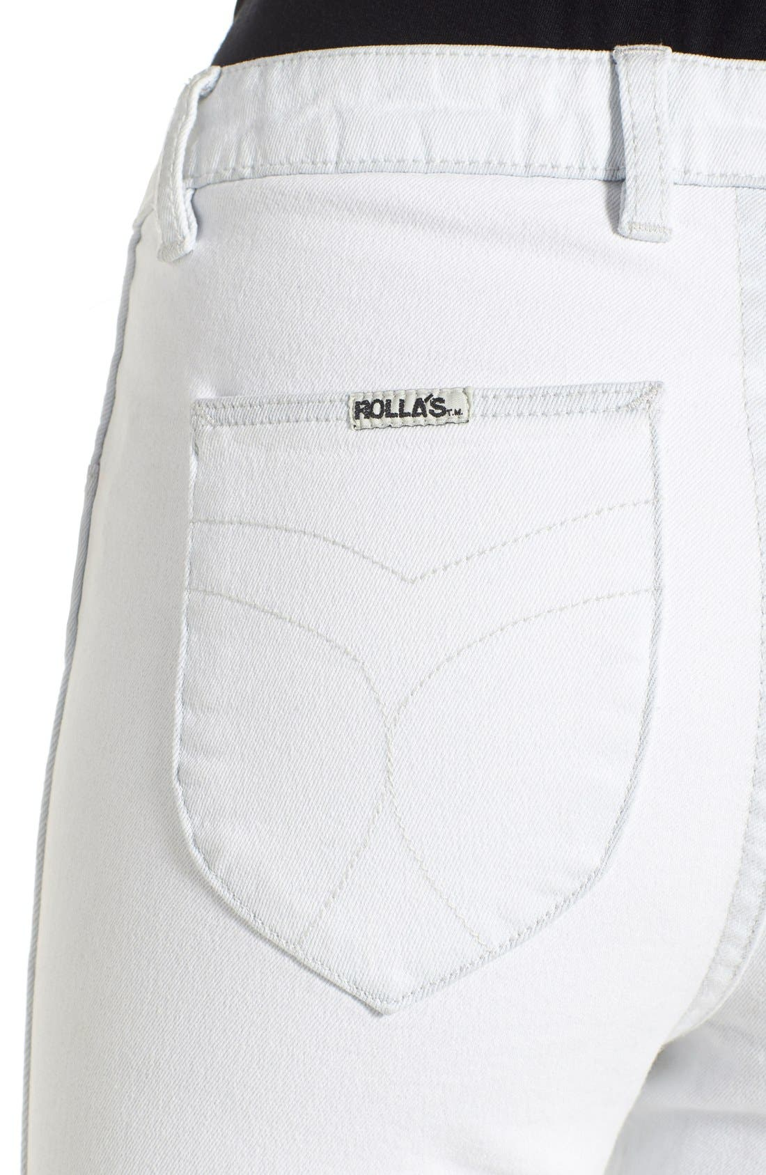 Alternate Image 4  - Rolla's 'West Coast' Distressed Skinny Jeans (Worn White)