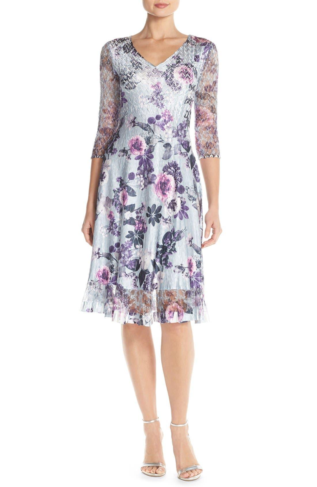 Alternate Image 1 Selected - Komarov Mixed Media A-Line Dress