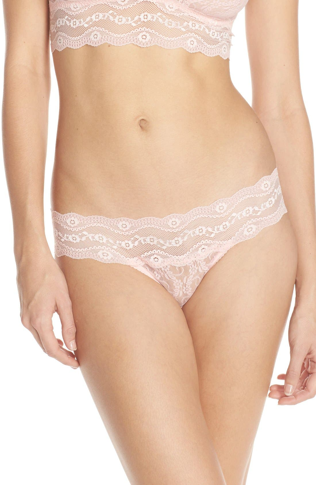 b.tempt'd by Wacoal 'Lace Kiss' Thong (3 for $33)