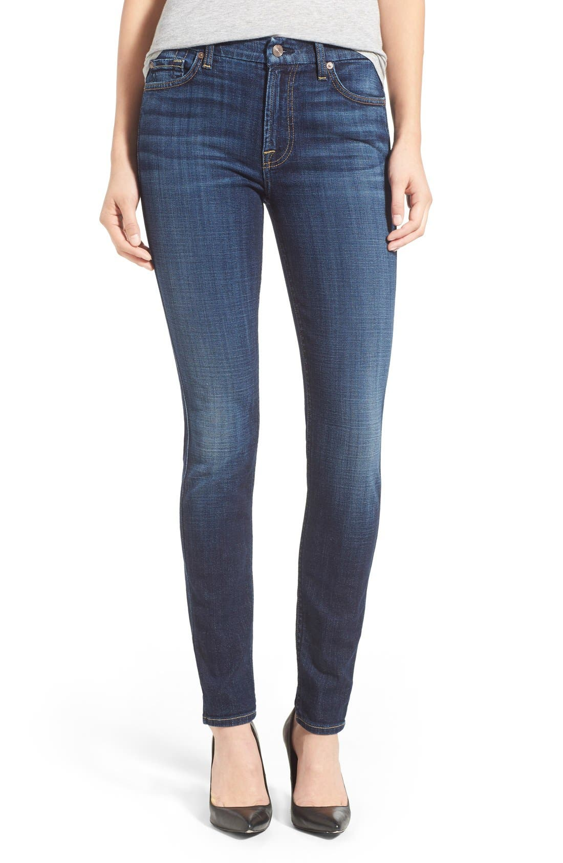 Alternate Image 1 Selected - 7 For All Mankind® Skinny Jeans (Royal Broken Twill)