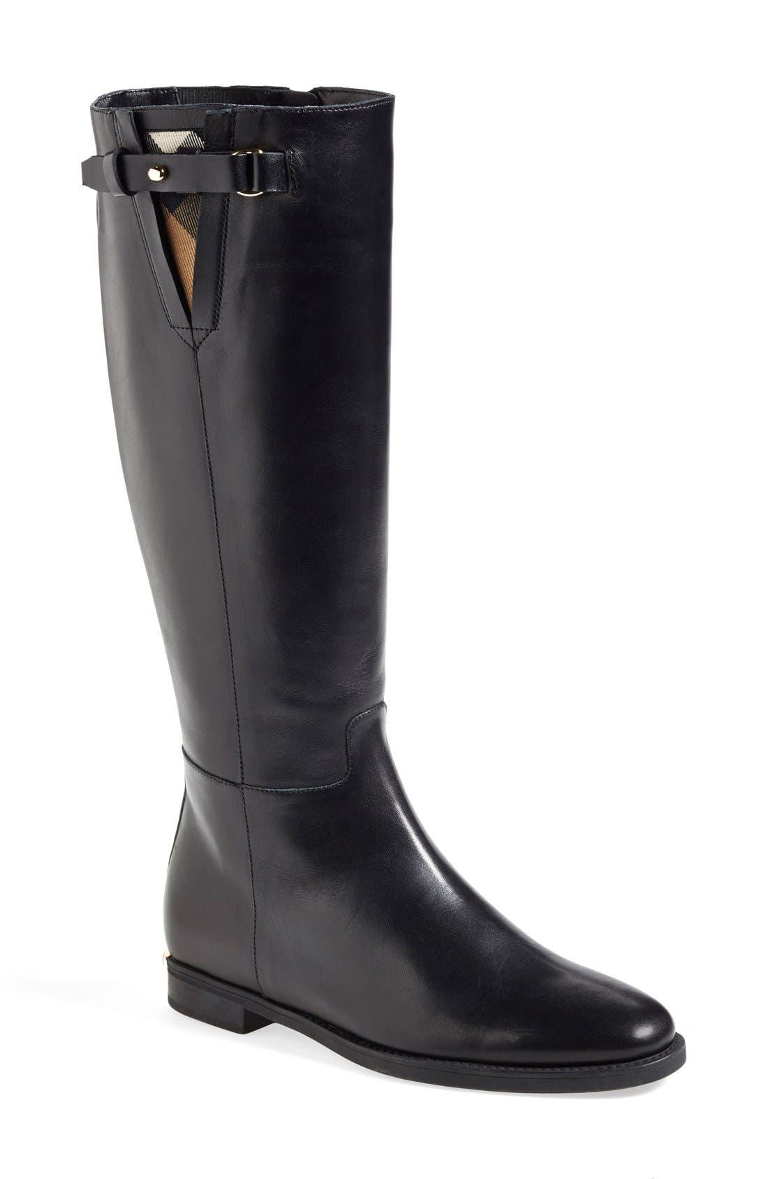 Alternate Image 1 Selected - Burberry 'Mapledene' Riding Boot (Women)