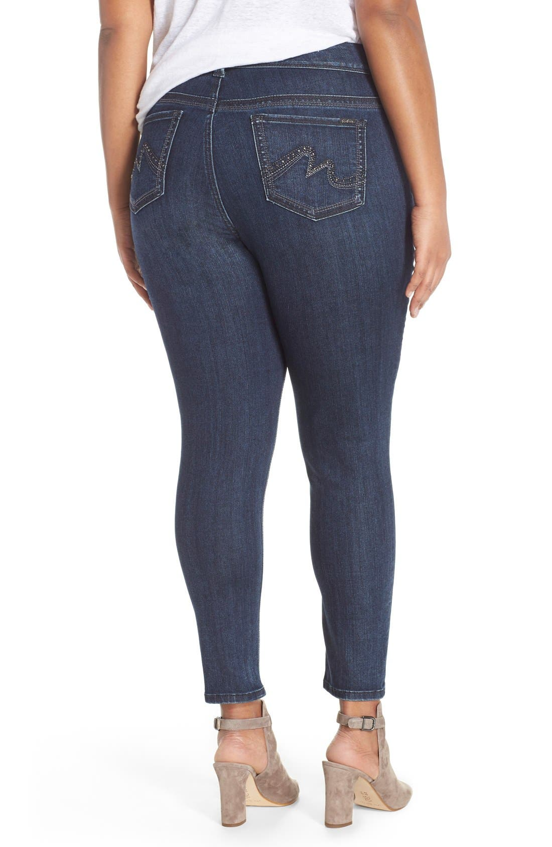 Alternate Image 2  - Melissa McCarthy Seven7 High Rise Pencil Jeans (Blissful) (Plus Size)