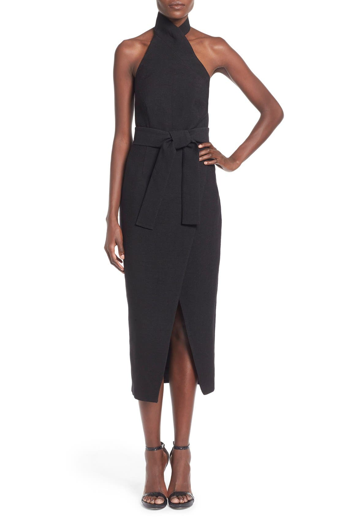 Alternate Image 1 Selected - C/MEO Collective 'Stand Still' Tie Belt Midi Dress