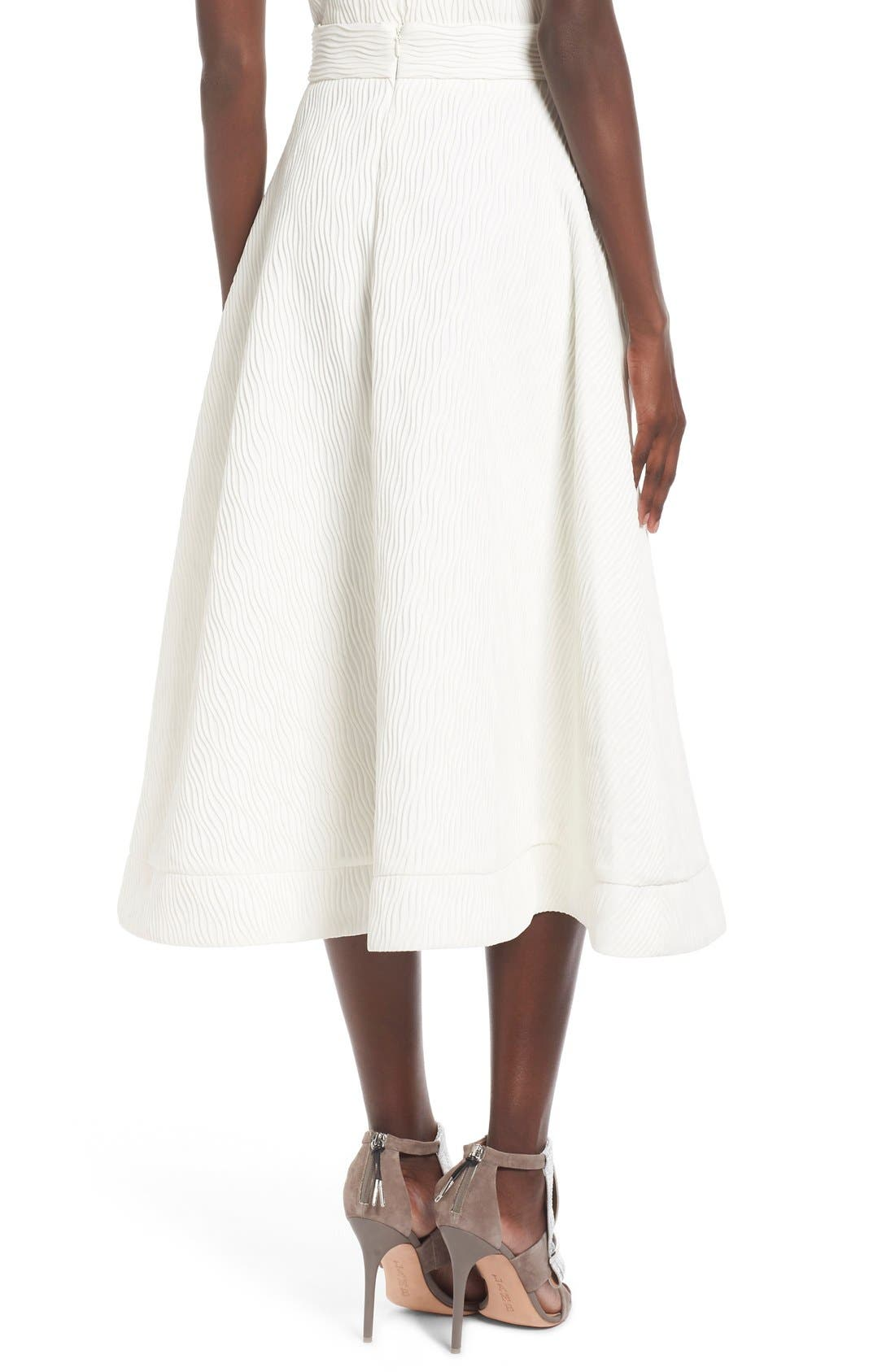 Alternate Image 2  - C/MEO Collective 'Stay Close' Wavy Pleat Midi Skirt
