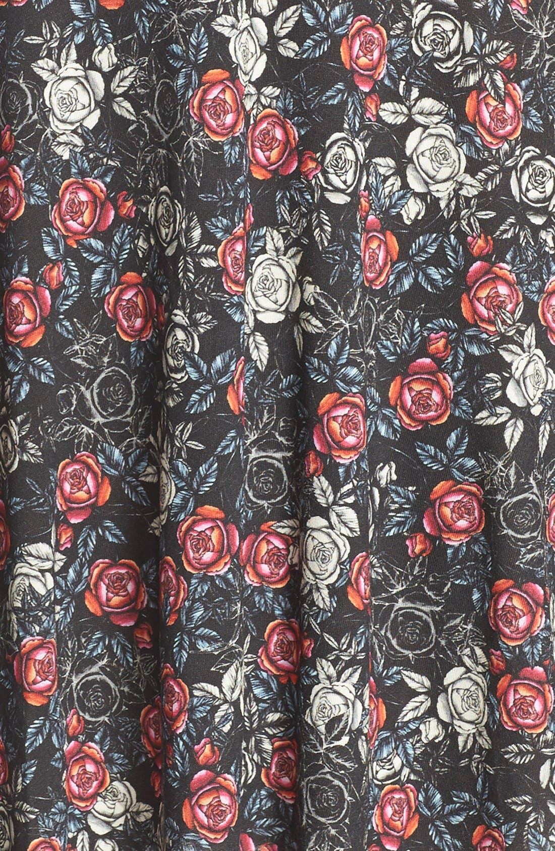 Alternate Image 6  - French Connection Floral Print Jersey A-Line Dress