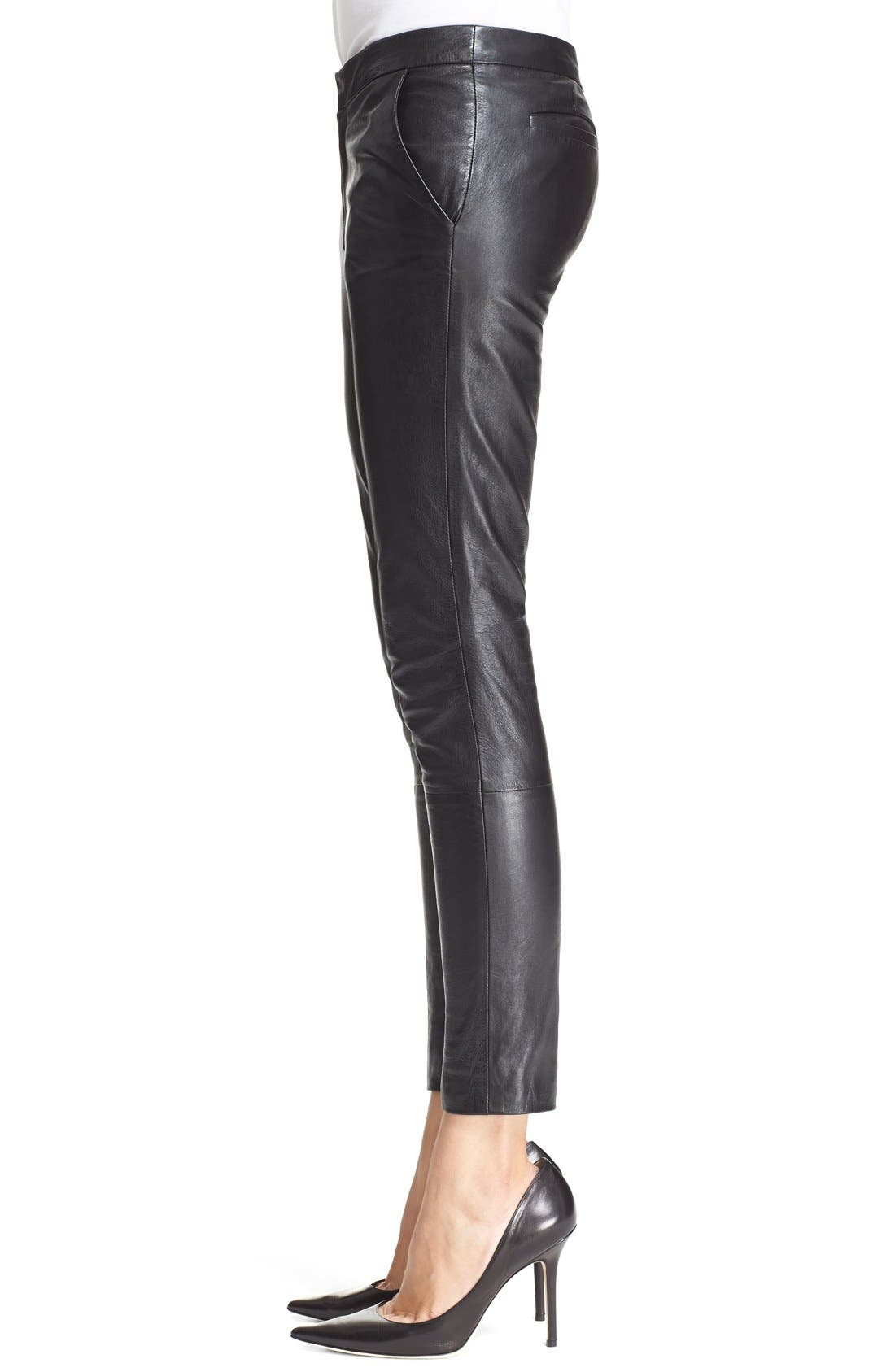 Alternate Image 4  - RED Valentino Leather Trousers