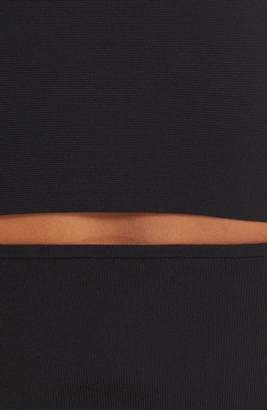 Alternate Image 6  - T by Alexander Wang Slash Detail Stretch Knit Bandeau Top