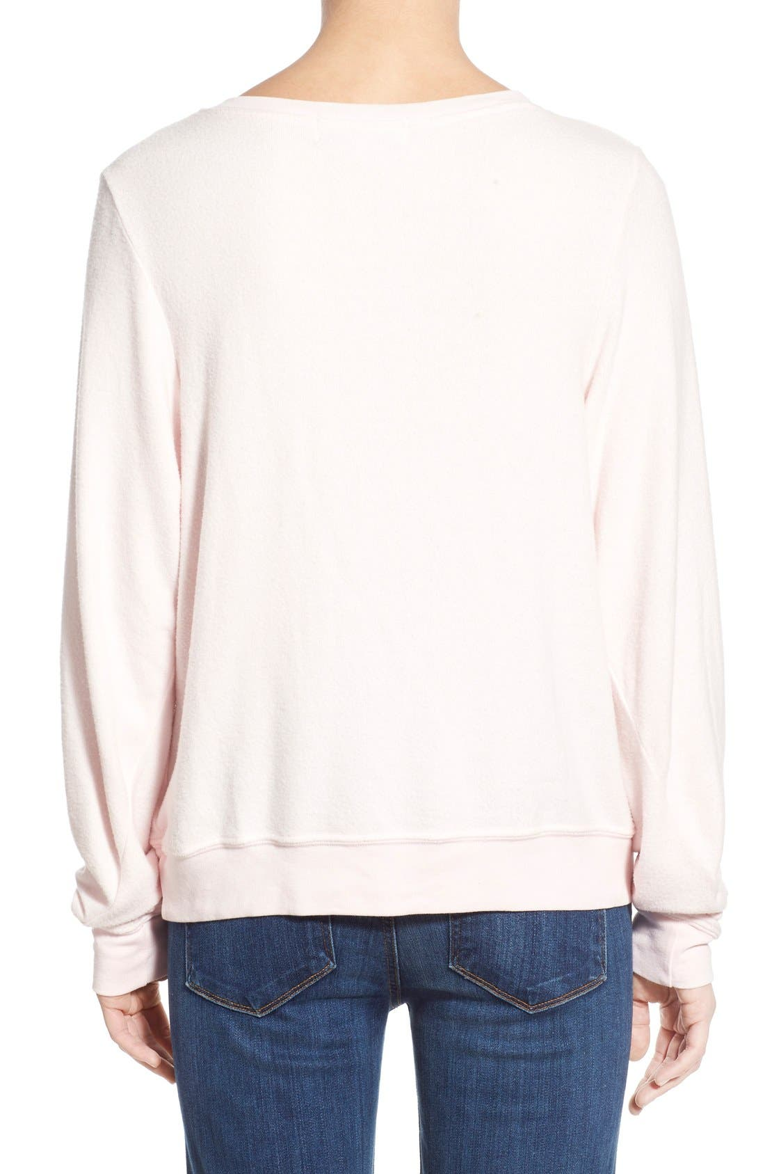 Alternate Image 2  - Wildfox 'Baggy Beach Jumper - FaLaLaLa' Pullover