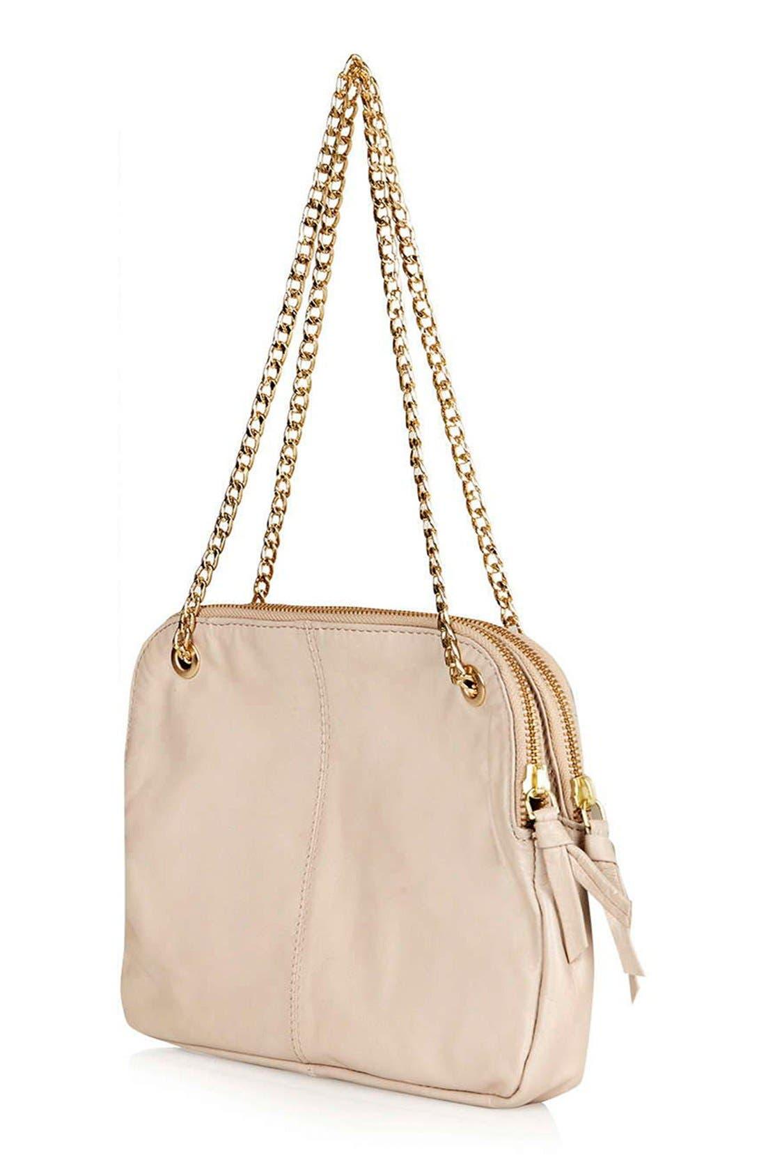 Alternate Image 3  - Topshop Quilted Leather Shoulder Bag