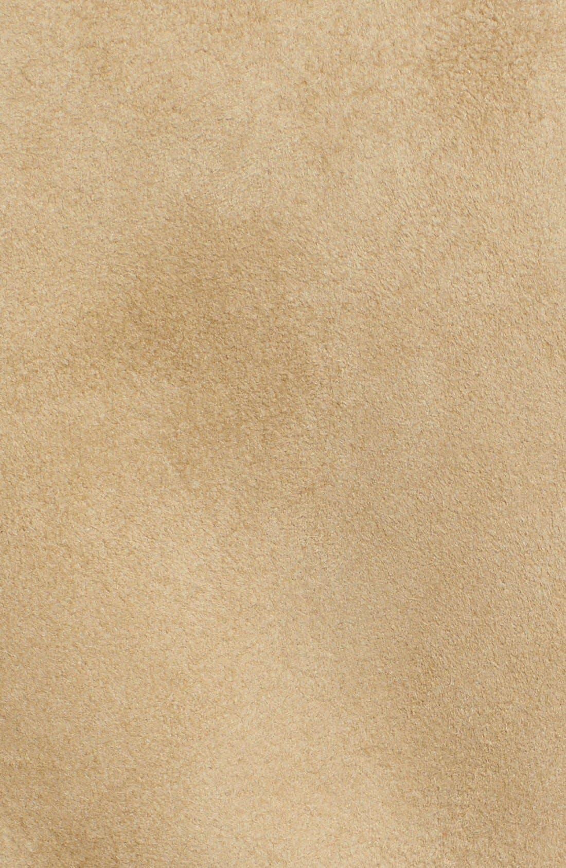 Alternate Image 3  - Burberry London 'Sandringham' Short Genuine Shearling Trench Coat