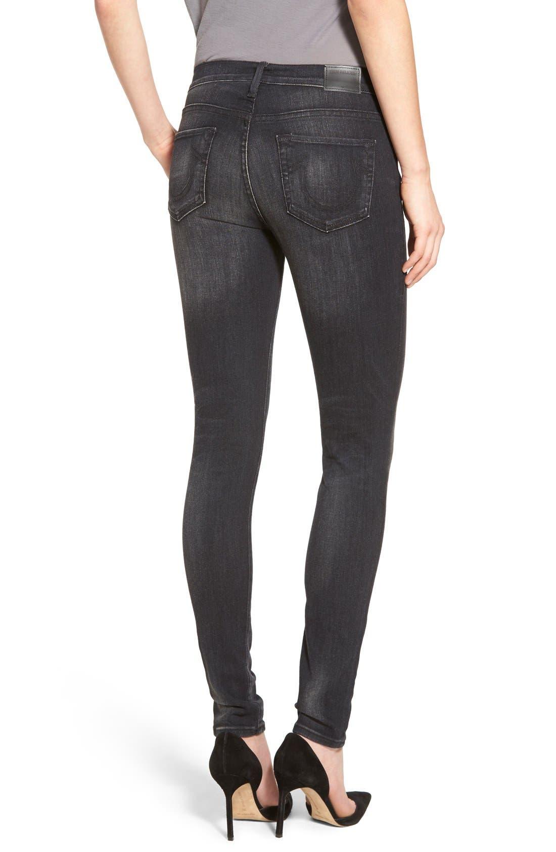 Alternate Image 2  - True Religion Brand Jeans 'Halle' Skinny Jeans (Authentic Black)