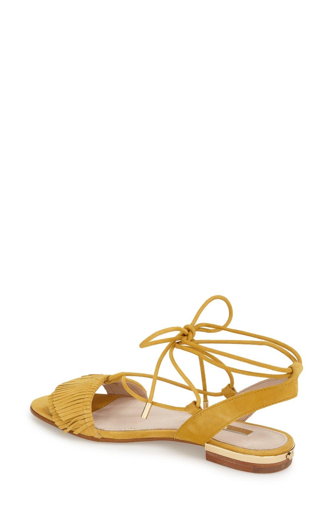 Alternate Image 2  - Louise et Cie 'Cyan' Fringe Sandal (Women)