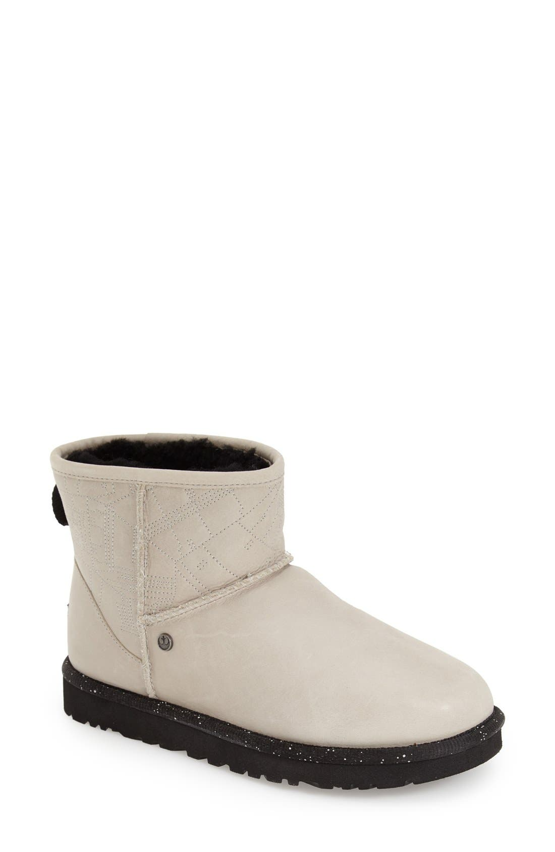 Alternate Image 1 Selected - UGG® 'Star Wars Millennium Falcon - Classic Mini' Water Resistant Short Boot (Women)