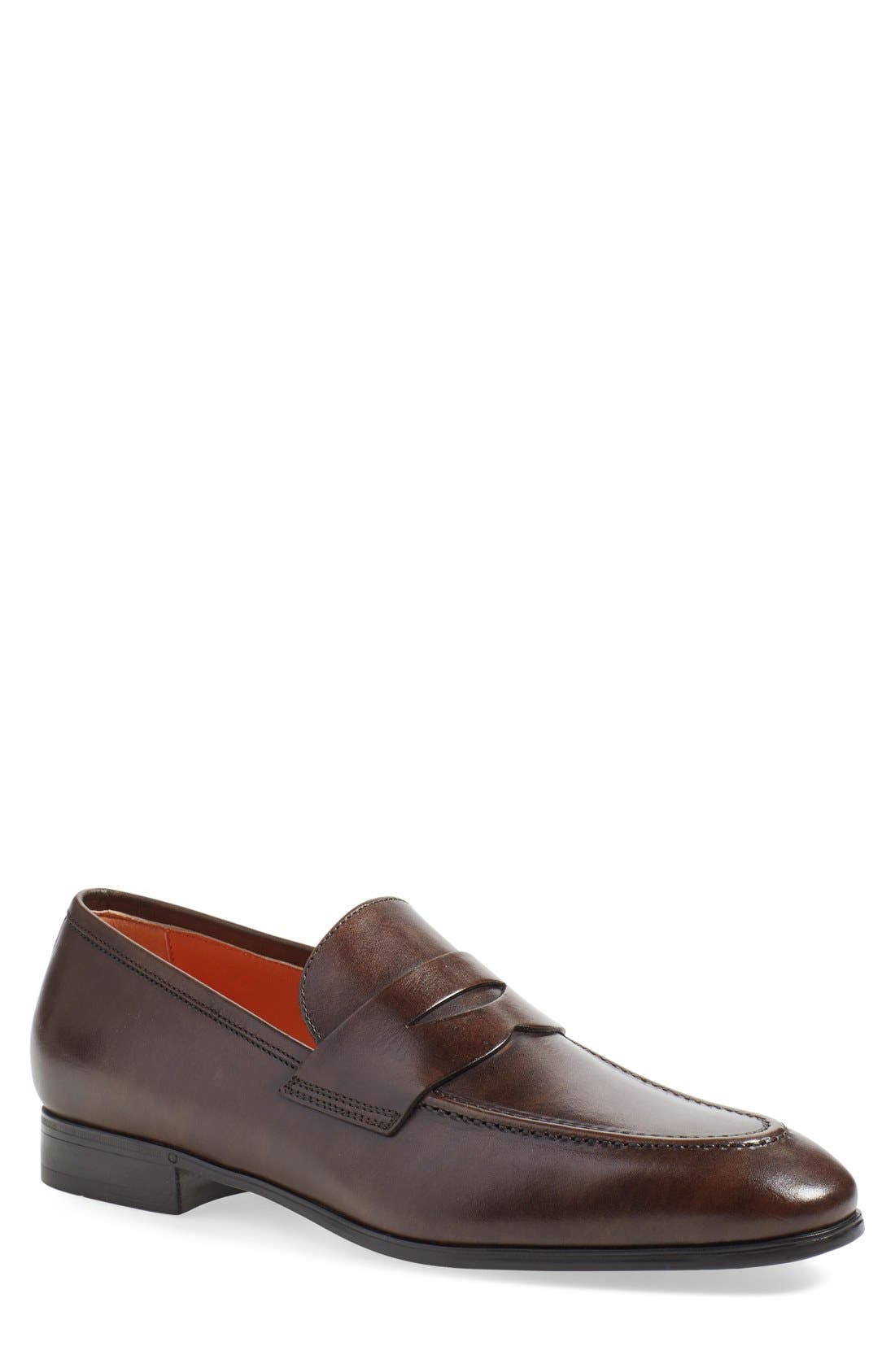 Alternate Image 1 Selected - Santoni 'Will' Penny Loafer (Men)