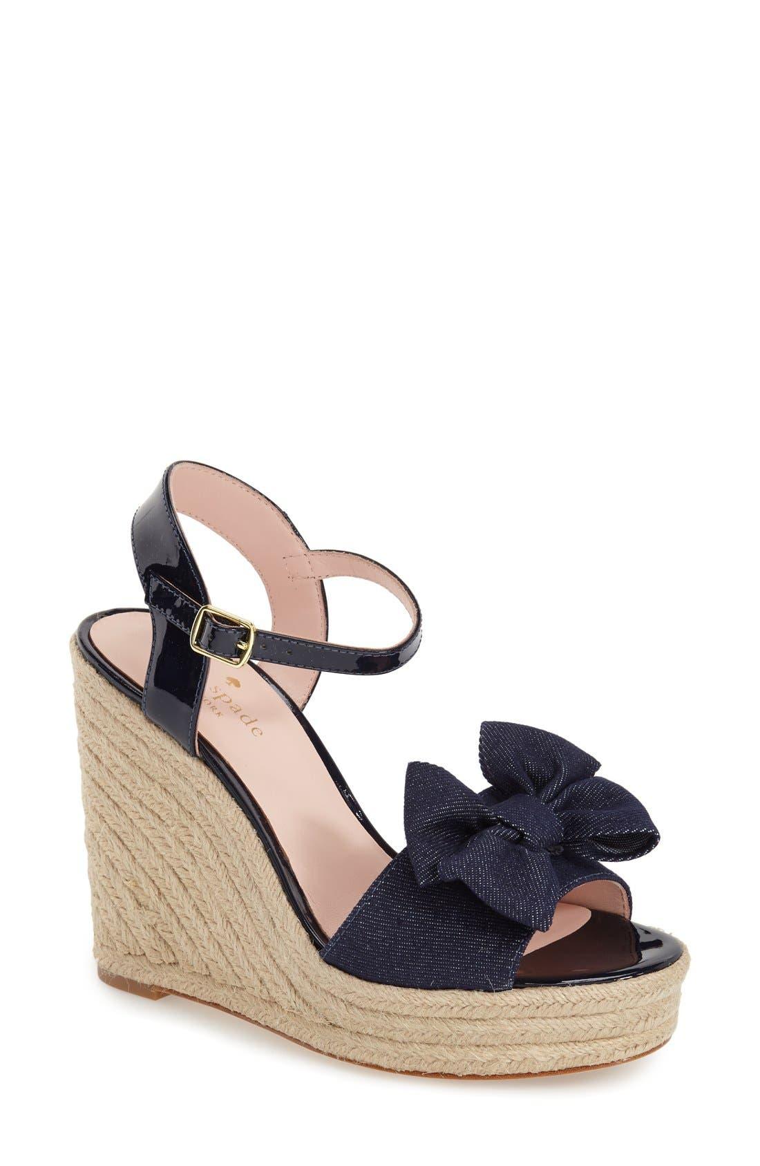Alternate Image 1 Selected - kate spade new york 'darya' wedge sandal (Women)