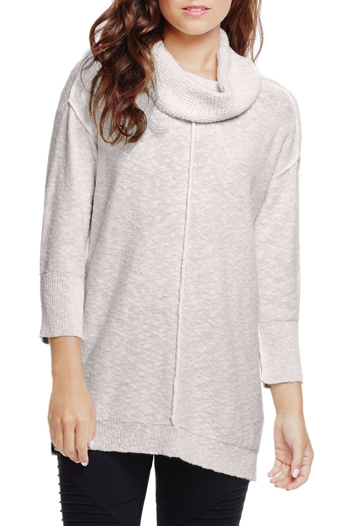 Alternate Image 1 Selected - Two by Vince Camuto Exposed Seam Cowl Neck Pullover