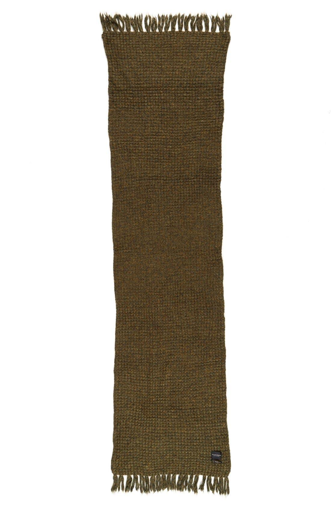 Alternate Image 2  - Maison Scotch Waffle Stitch Knit Scarf