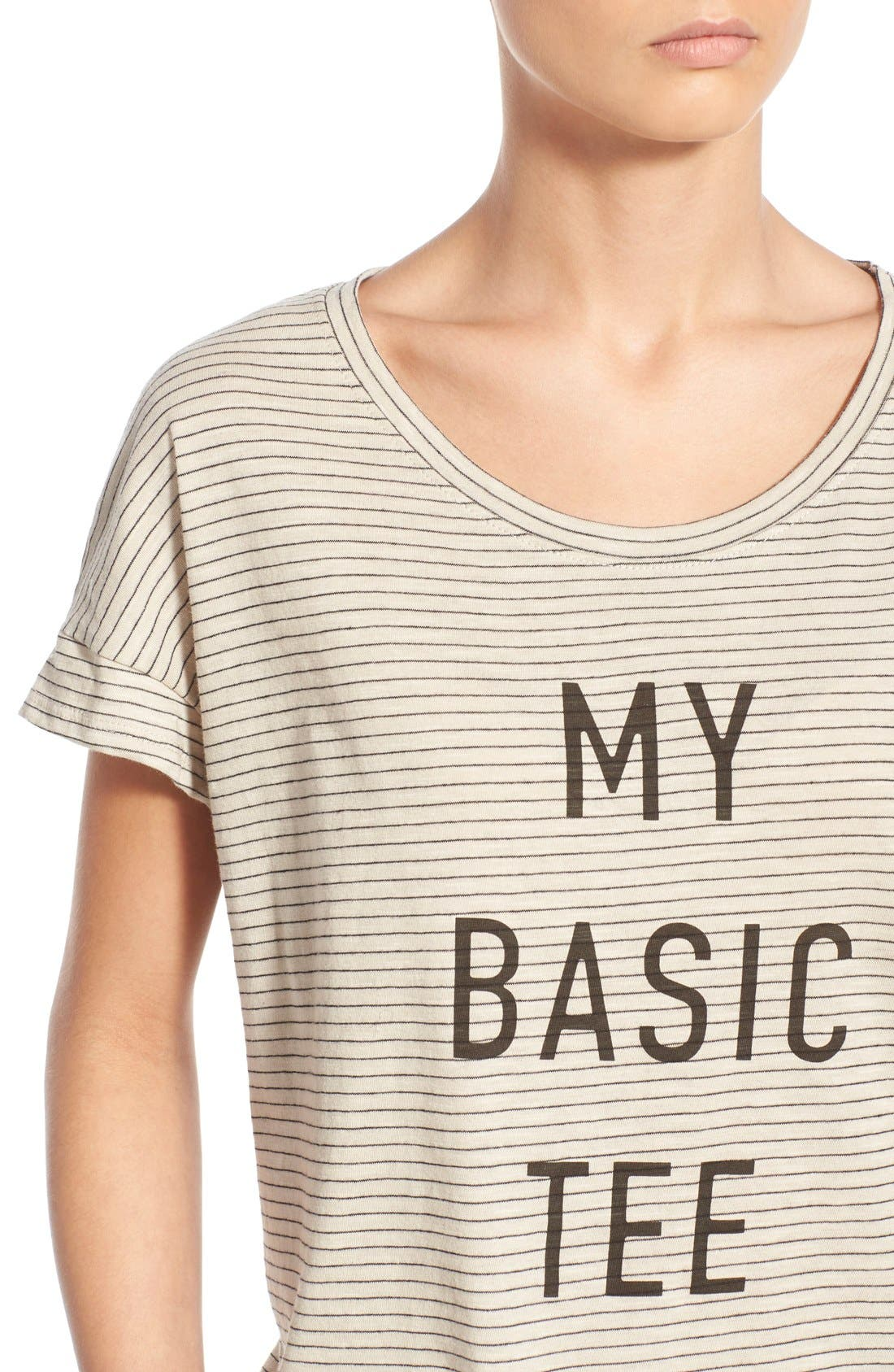 Alternate Image 4  - Project Social T 'My Basic Tee' Stripe Graphic Tee