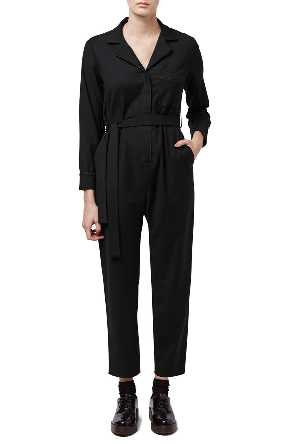 Alternate Image 1 Selected - Topshop Boutique Tailored PJ Jumpsuit