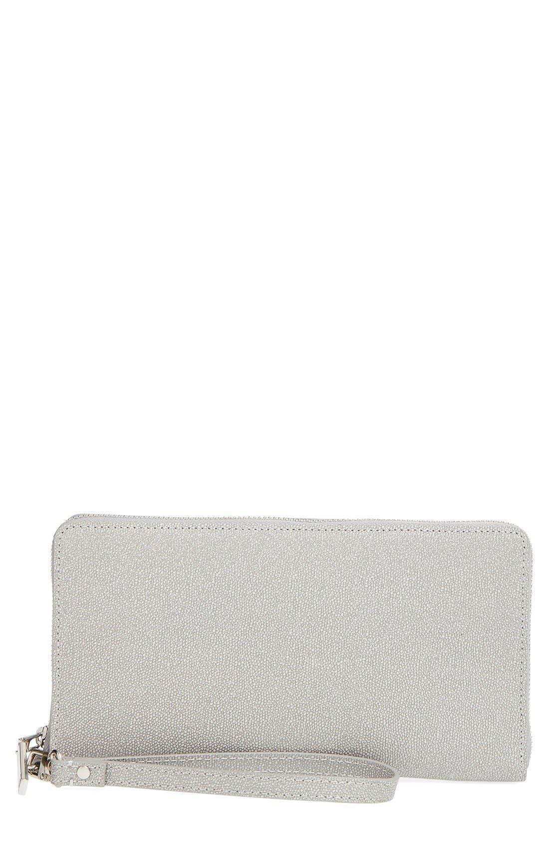 Alternate Image 1 Selected - Halogen® Zip Around Leather Wallet