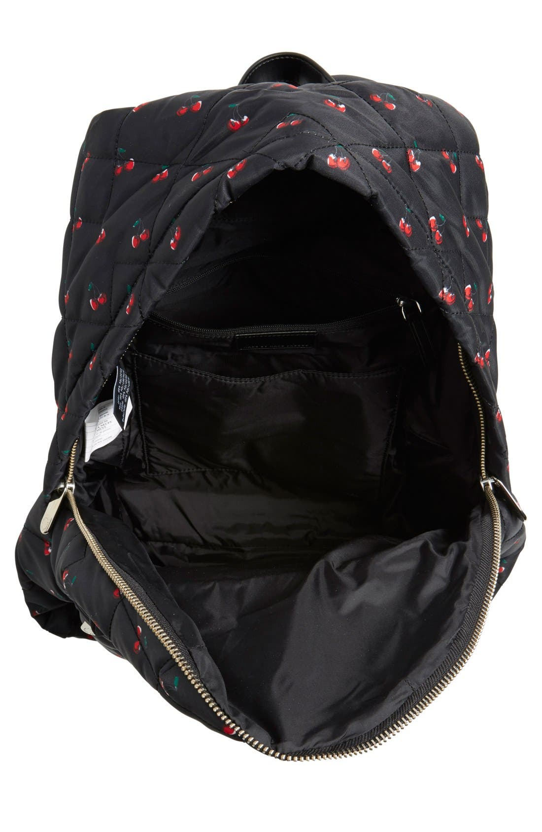 Alternate Image 4  - MARC BY MARC JACOBS 'Crosby' Quilted Fruit Print Backpack